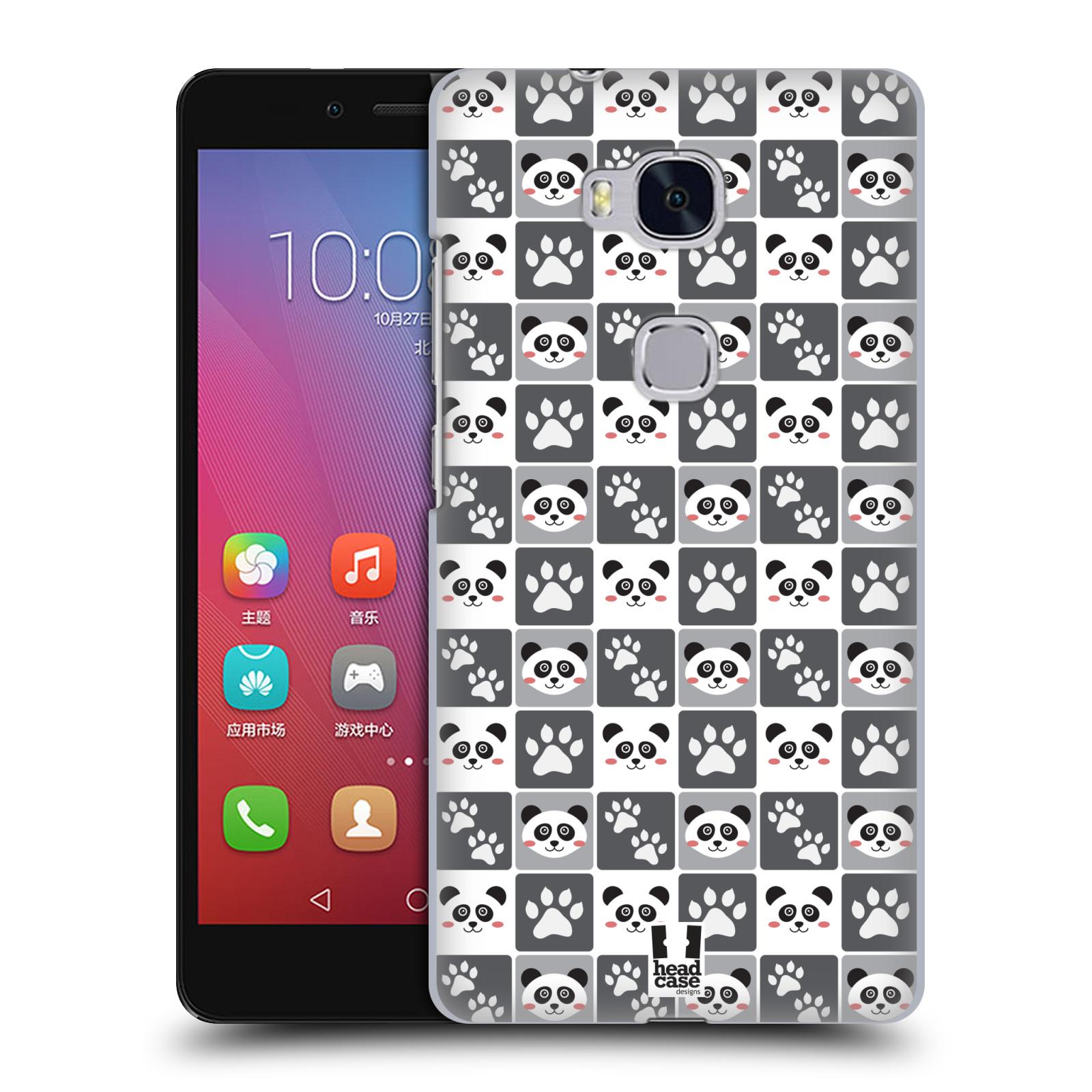 HEAD CASE pevný plastový obal na mobil HUAWEI HONOR 5X vzor Zvířecí razítka MEDVÍDEK PANDA