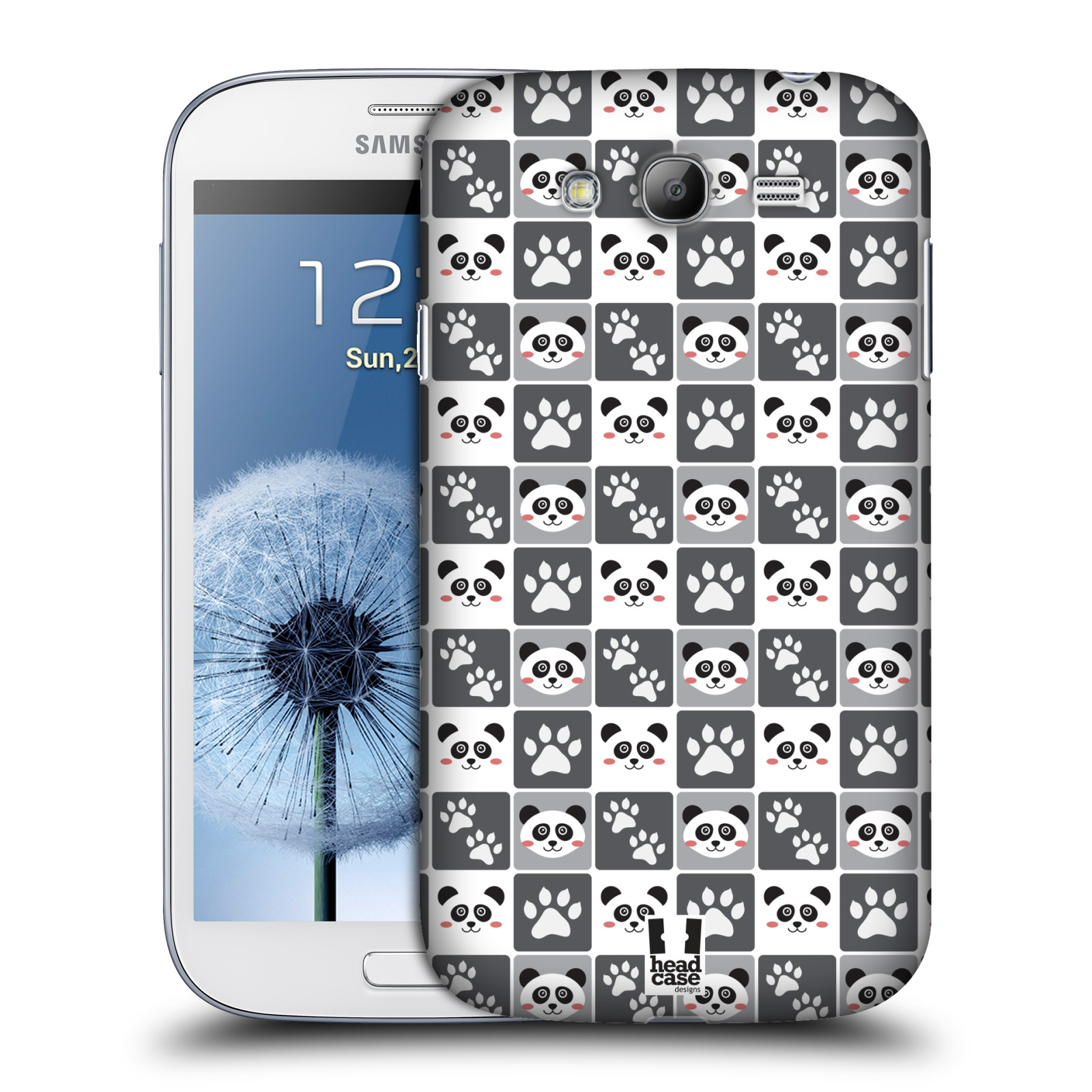 HEAD CASE plastový obal na mobil SAMSUNG GALAXY Grand i9080 vzor Zvířecí razítka MEDVÍDEK PANDA