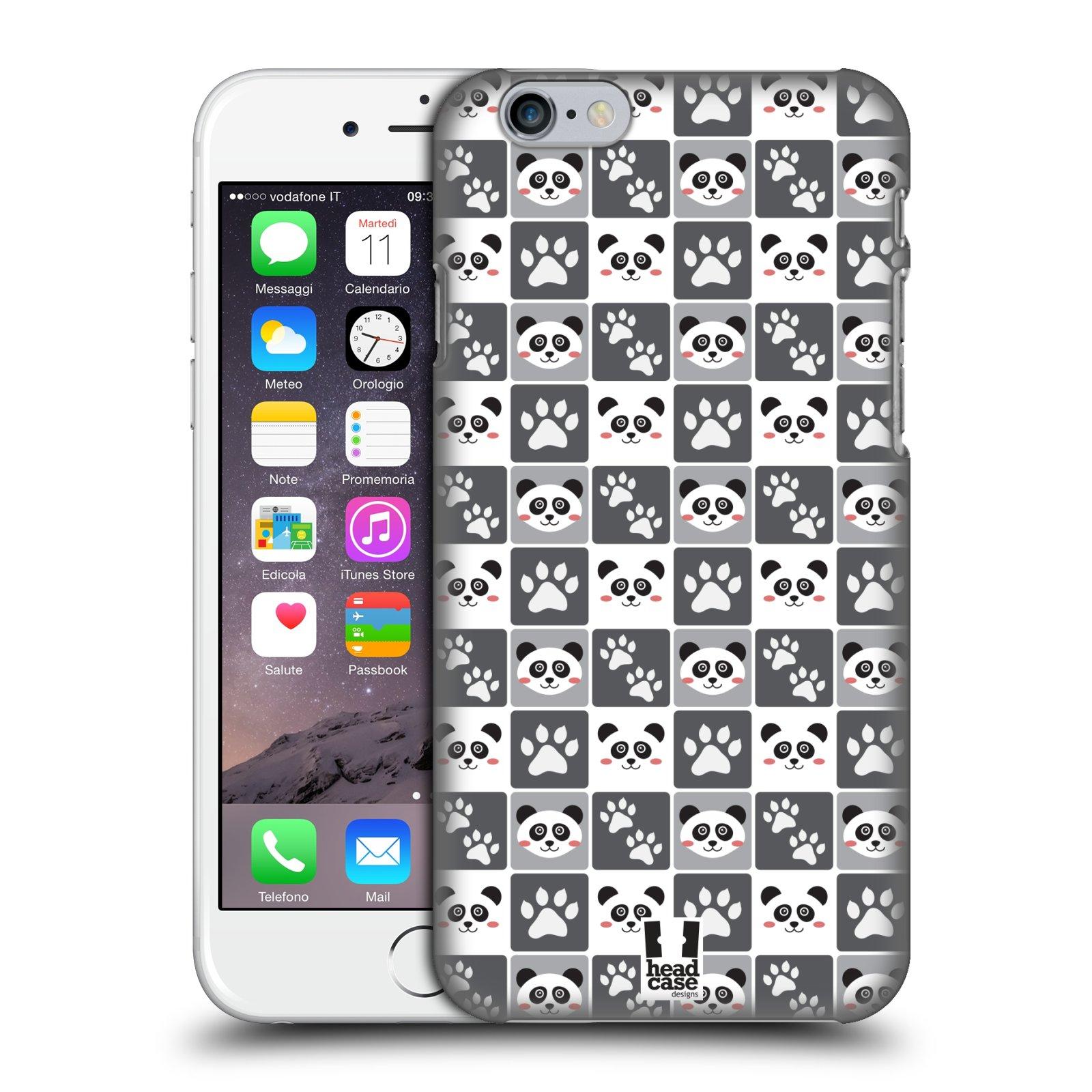 Plastové pouzdro pro mobil Apple Iphone 6/6S vzor Zvířecí razítka MEDVÍDEK PANDA