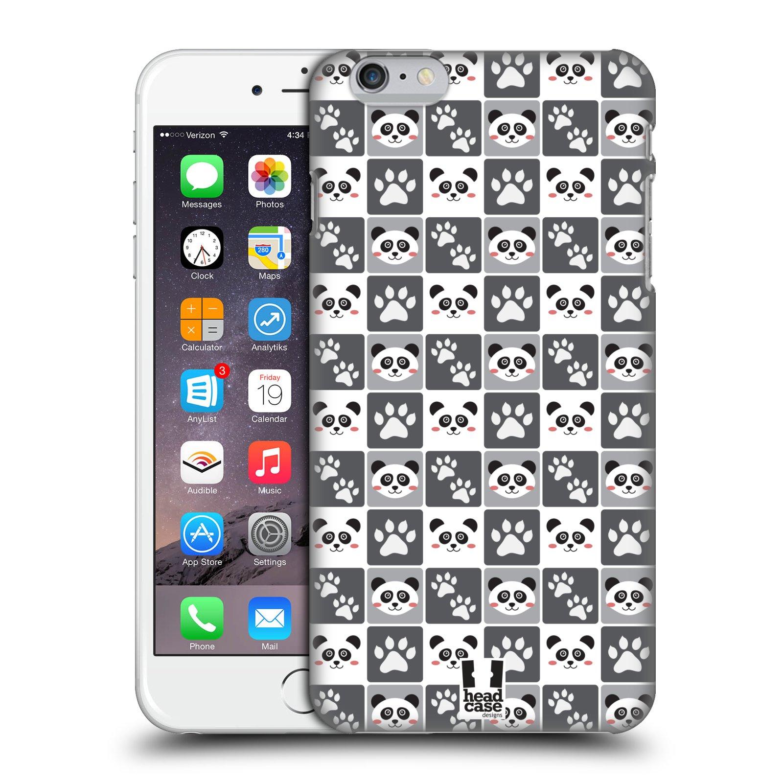 Plastové pouzdro pro mobil Apple Iphone 6 PLUS / 6S PLUS vzor Zvířecí razítka MEDVÍDEK PANDA