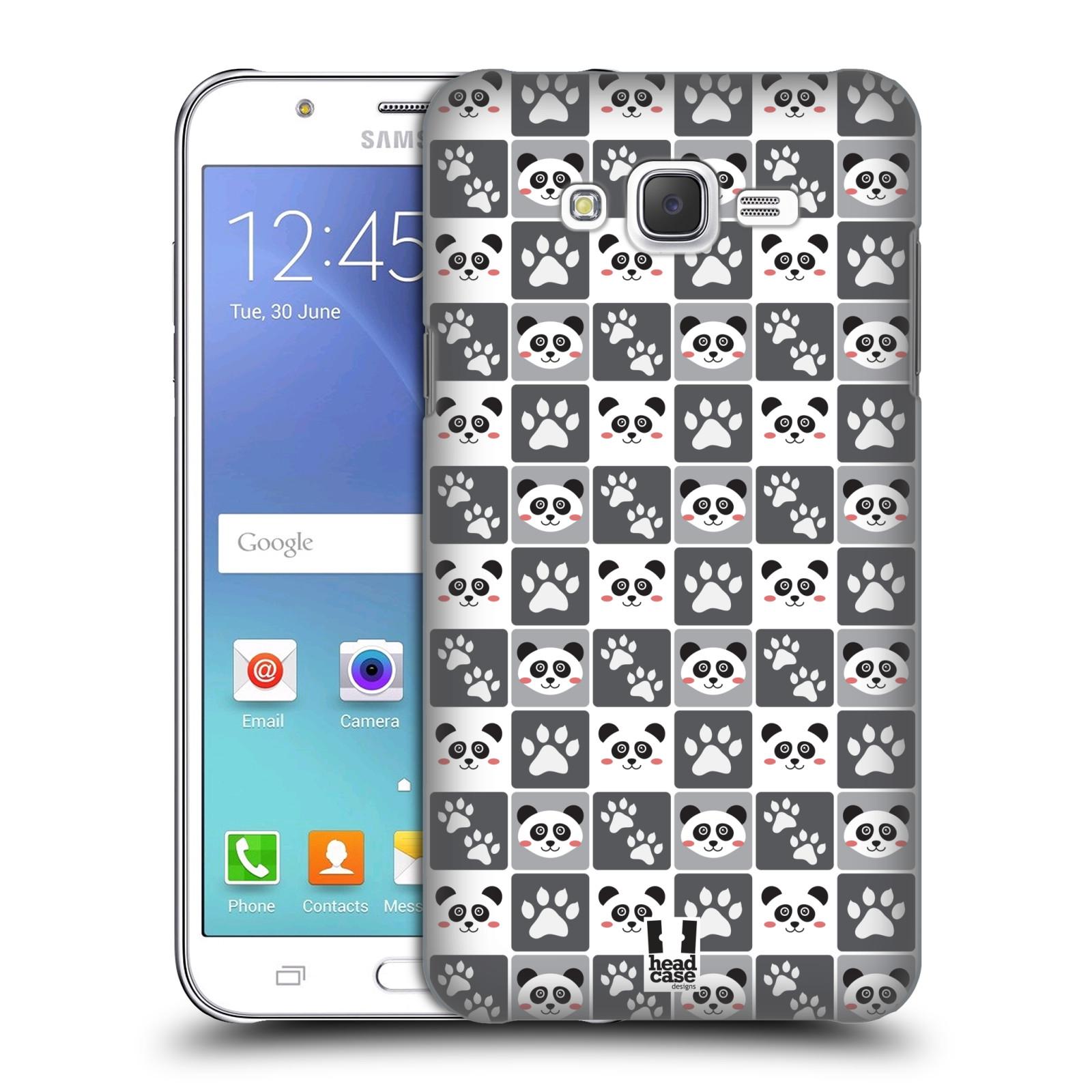 HEAD CASE plastový obal na mobil SAMSUNG Galaxy J7, J700 vzor Zvířecí razítka MEDVÍDEK PANDA