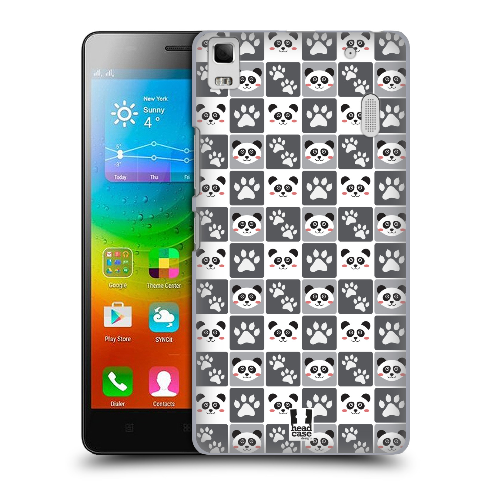 HEAD CASE pevný plastový obal na mobil LENOVO A7000 / A7000 DUAL / K3 NOTE vzor Zvířecí razítka MEDVÍDEK PANDA
