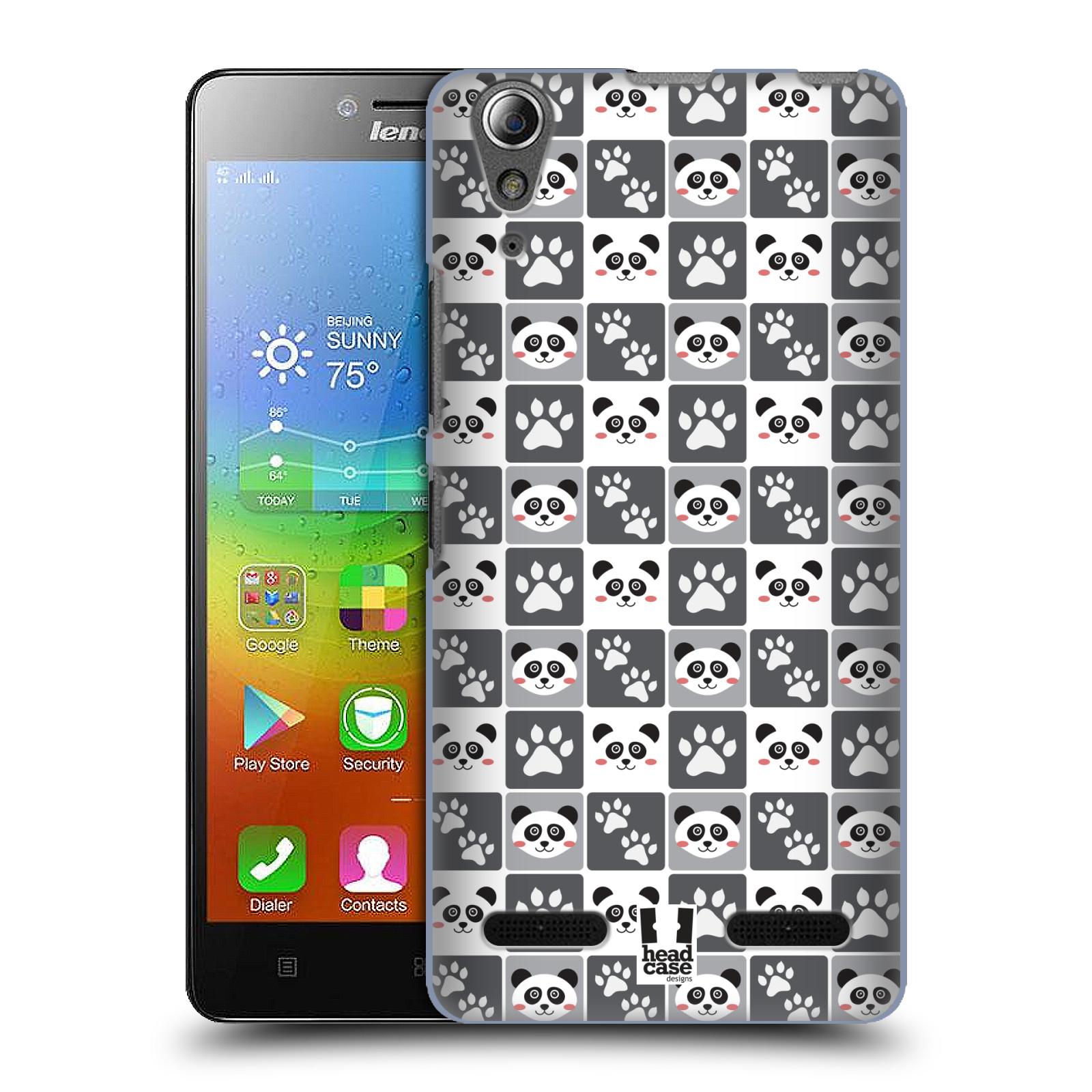 HEAD CASE pevný plastový obal na mobil LENOVO A6000 / A6000 PLUS vzor Zvířecí razítka MEDVÍDEK PANDA