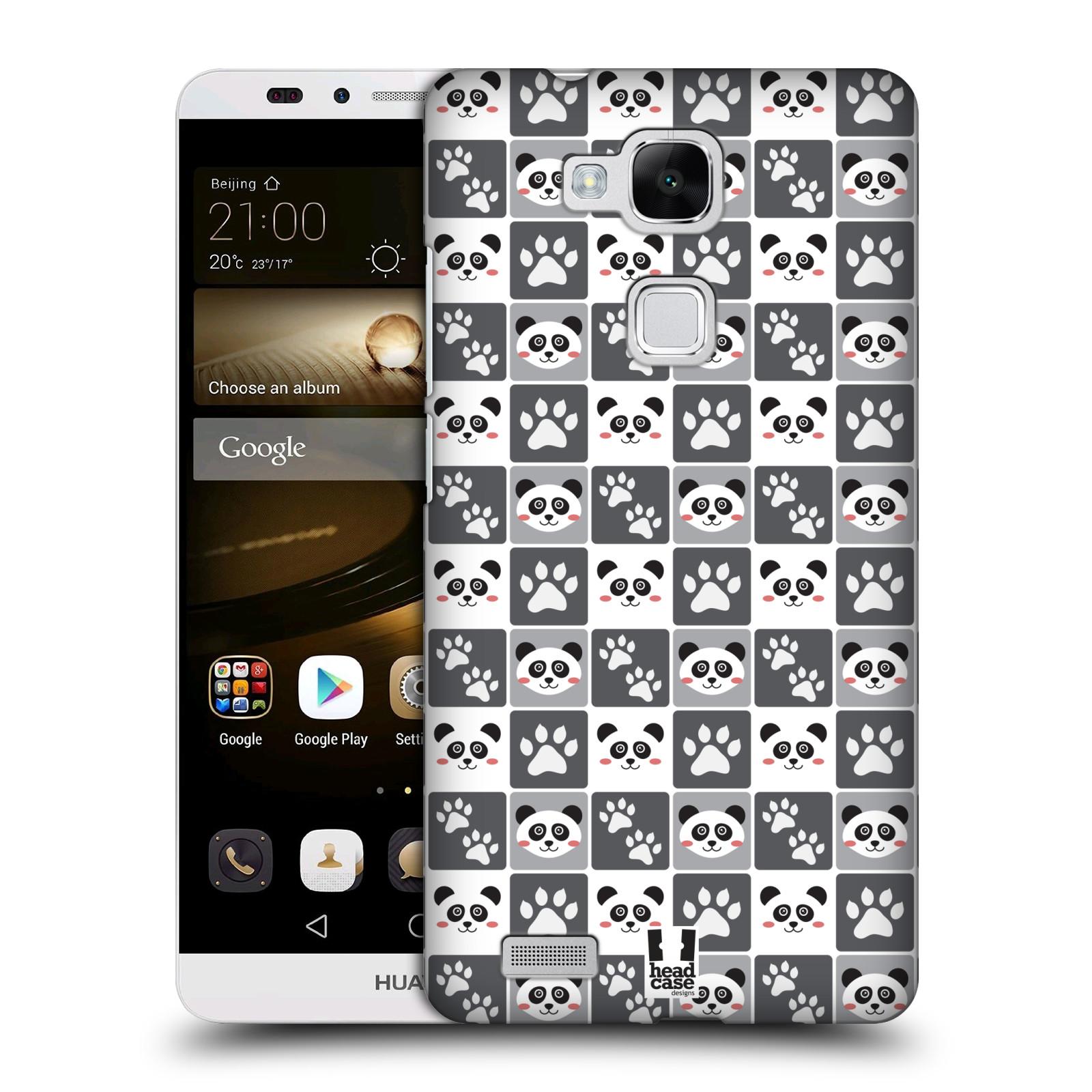 HEAD CASE plastový obal na mobil Huawei Mate 7 vzor Zvířecí razítka MEDVÍDEK PANDA
