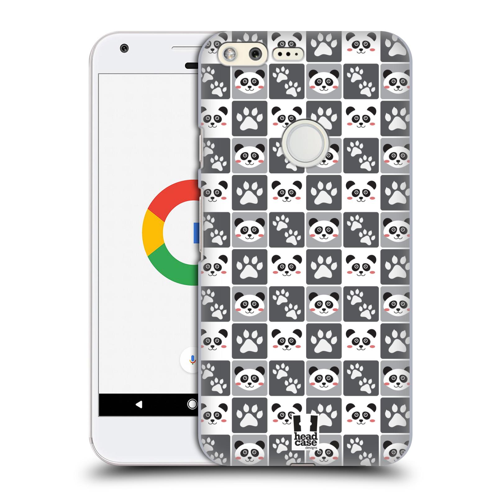 HEAD CASE plastový obal na mobil GOOGLE Pixel vzor Zvířecí razítka MEDVÍDEK PANDA