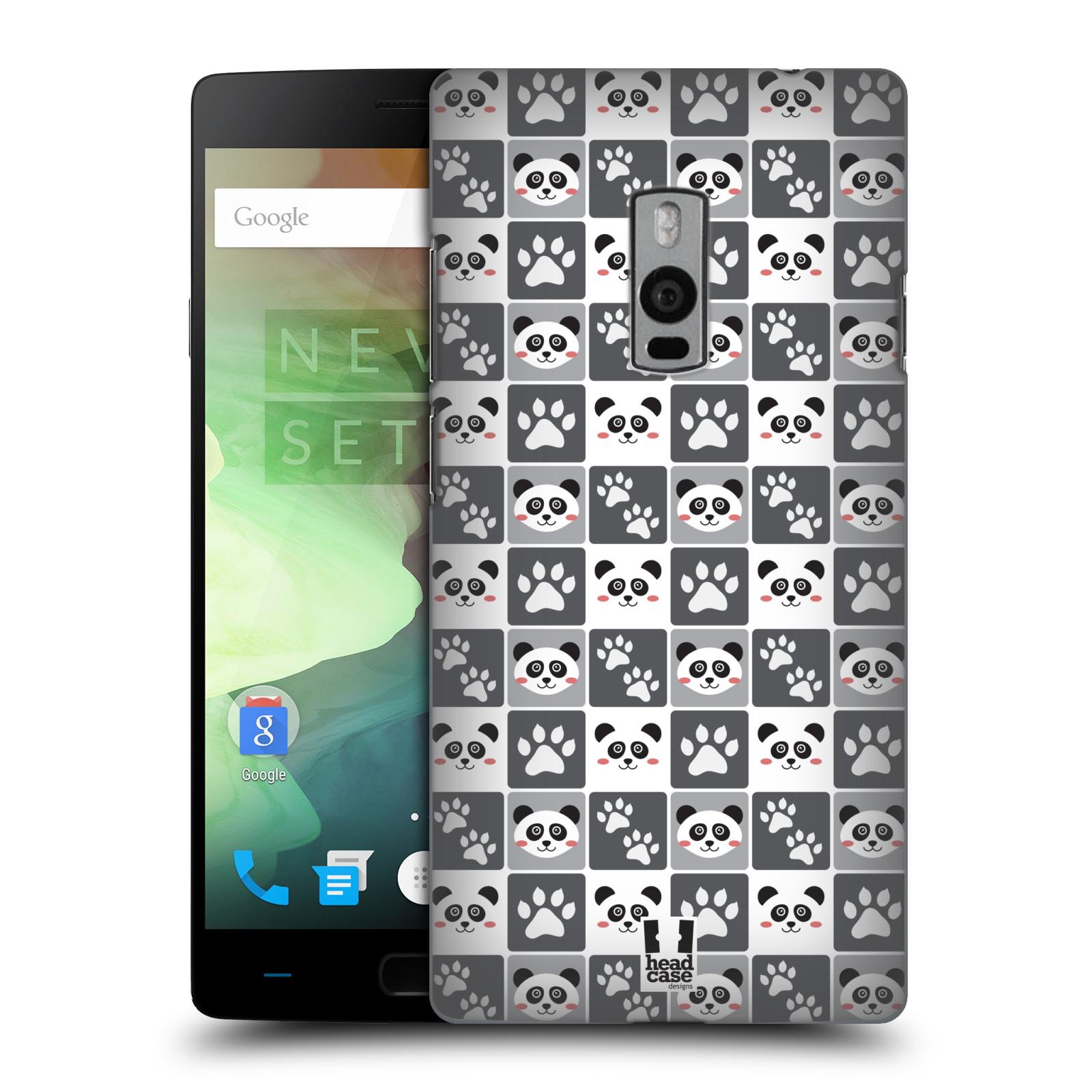 HEAD CASE pevný plastový obal na mobil OnePlus 2  ( TWO ) vzor Zvířecí razítka MEDVÍDEK PANDA