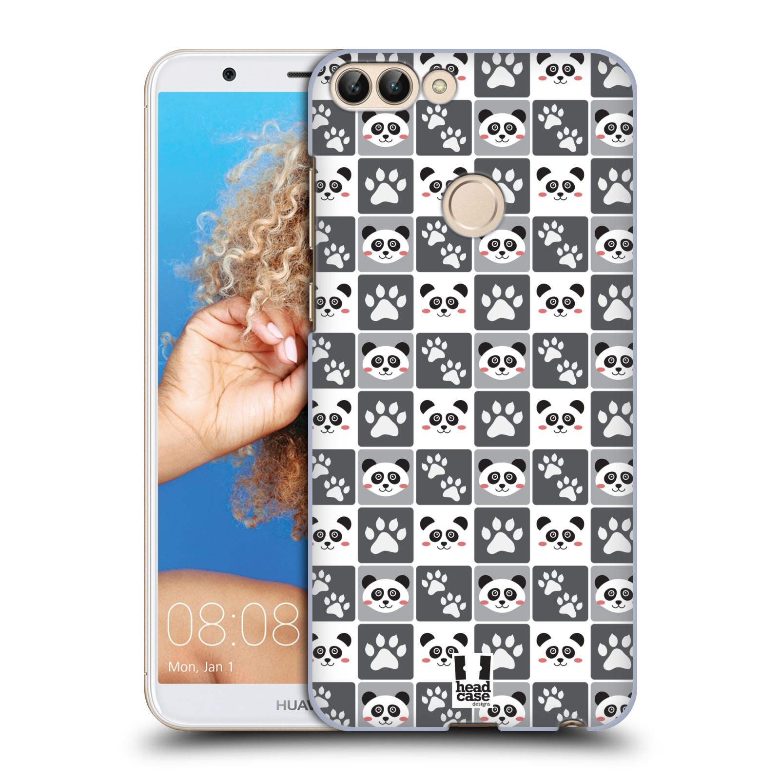 HEAD CASE plastový obal na mobil Huawei P Smart vzor Zvířecí razítka MEDVÍDEK PANDA