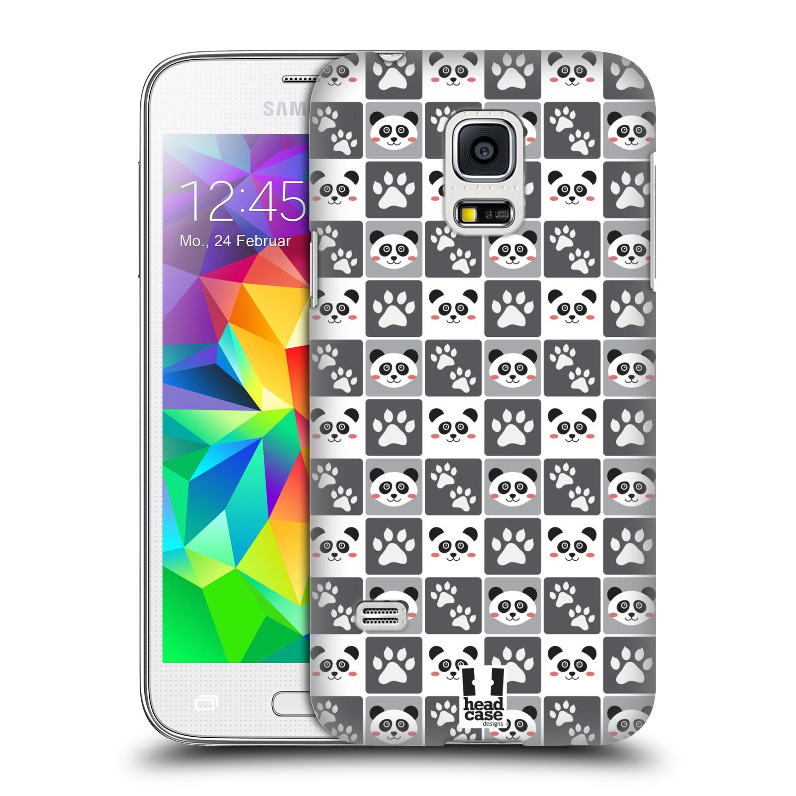 HEAD CASE plastový obal na mobil SAMSUNG Galaxy S5 MINI / S5 MINI DUOS vzor Zvířecí razítka MEDVÍDEK PANDA