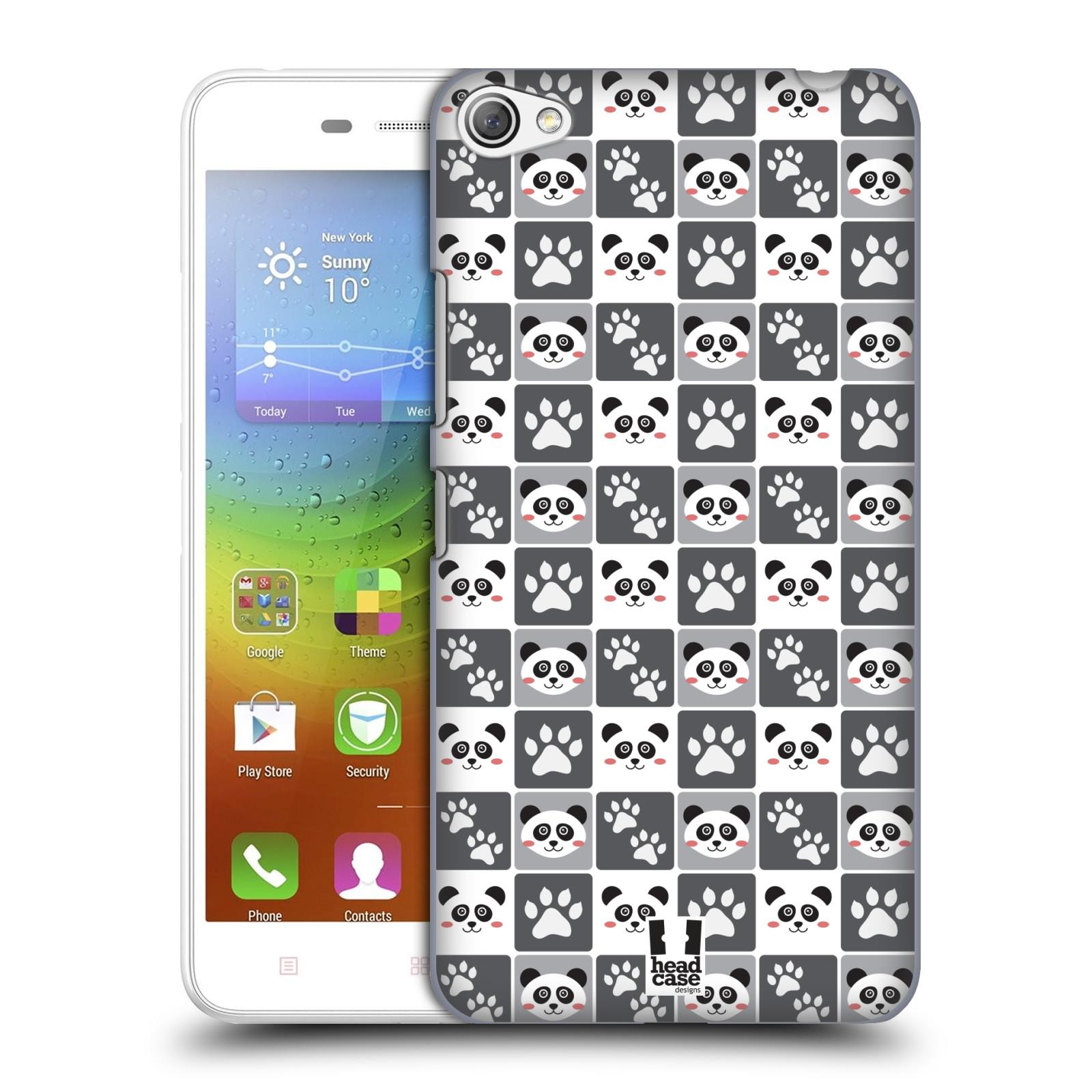 HEAD CASE pevný plastový obal na mobil LENOVO S60 / LENOVO S60 DUAL SIM vzor Zvířecí razítka MEDVÍDEK PANDA