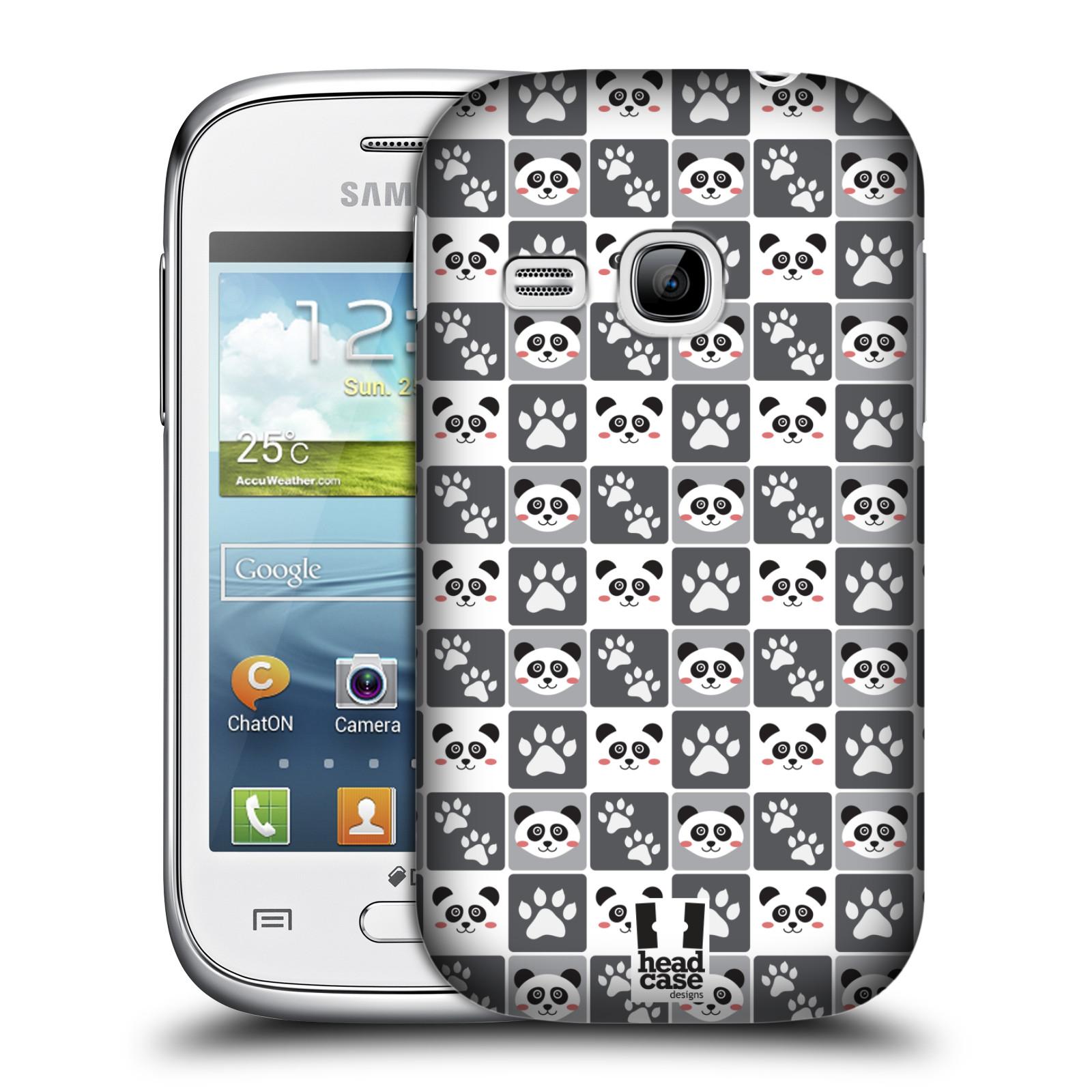 HEAD CASE plastový obal na mobil SAMSUNG Galaxy Young S6310 vzor Zvířecí razítka MEDVÍDEK PANDA