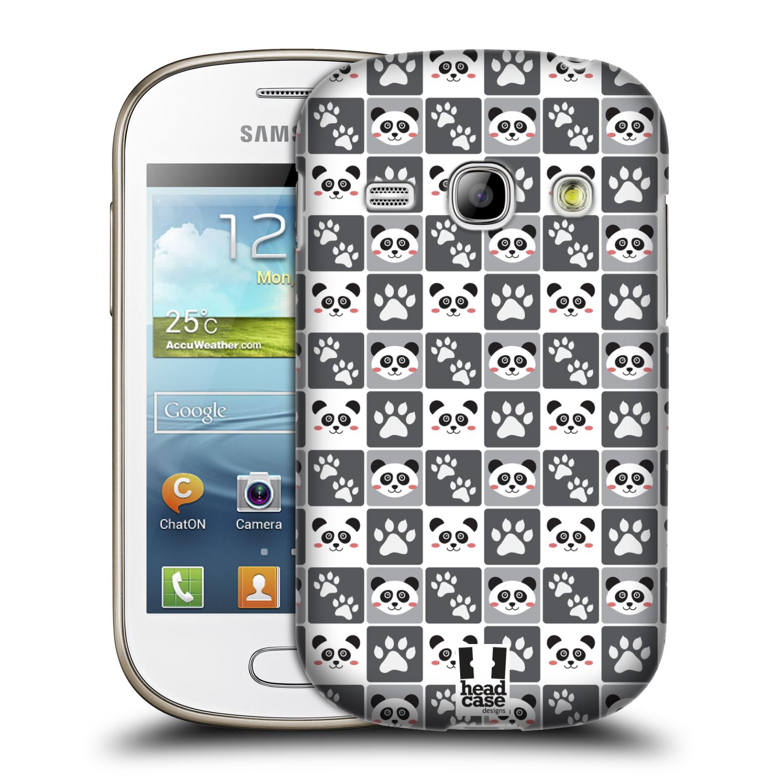 HEAD CASE plastový obal na mobil SAMSUNG GALAXY FAME (S6810) vzor Zvířecí razítka MEDVÍDEK PANDA