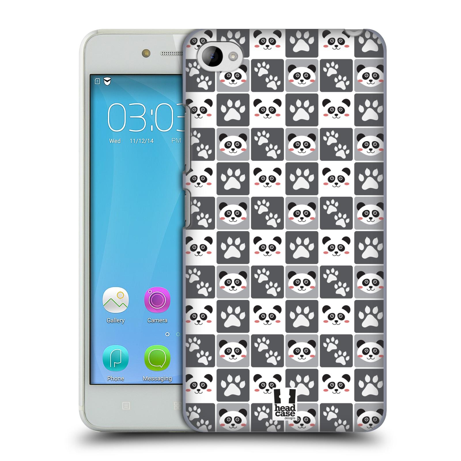 HEAD CASE pevný plastový obal na mobil LENOVO S90 vzor Zvířecí razítka MEDVÍDEK PANDA
