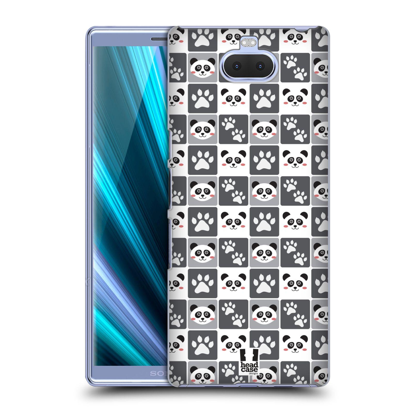 Pouzdro na mobil Sony Xperia 10 - Head Case - vzor Zvířecí razítka MEDVÍDEK PANDA