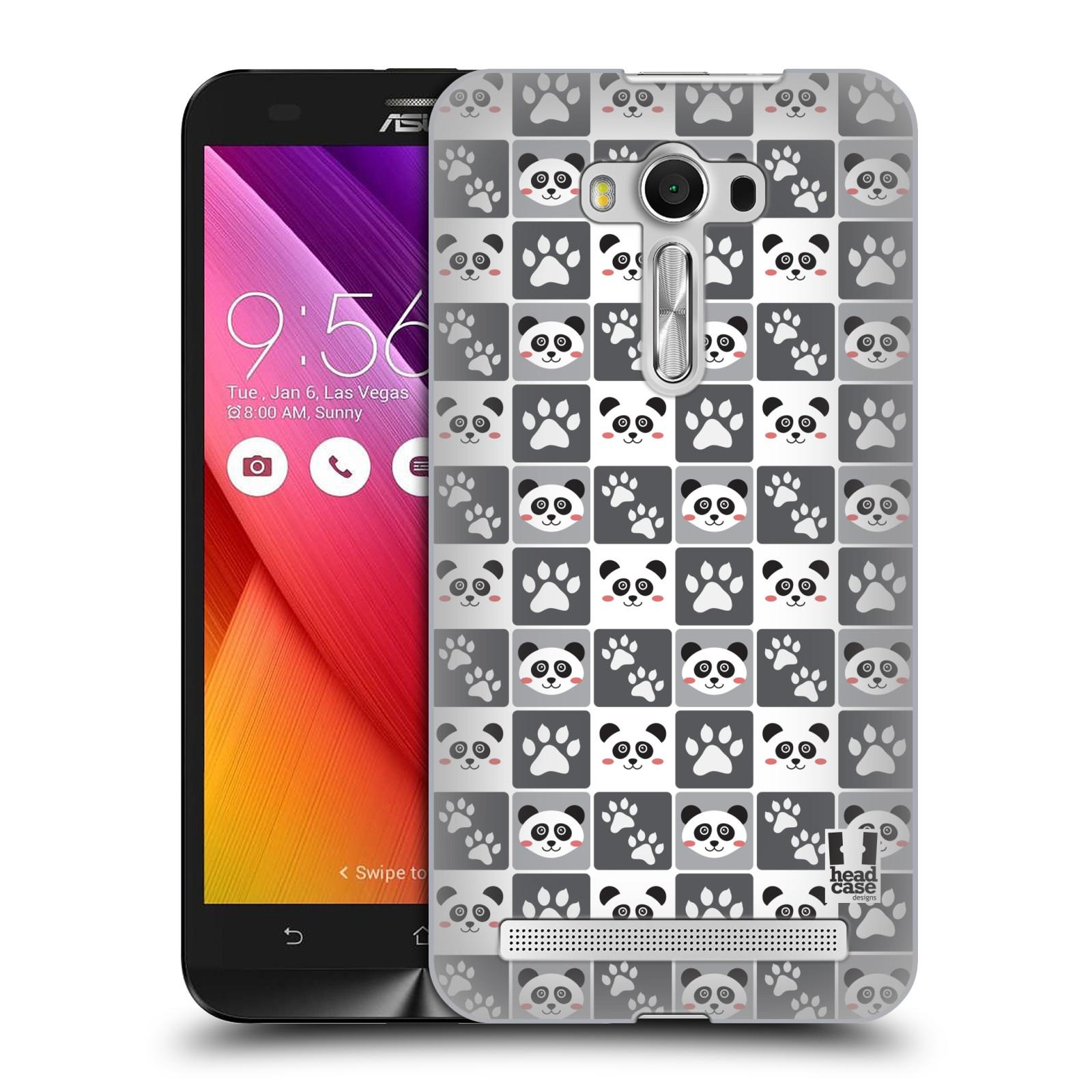 HEAD CASE plastový obal na mobil Asus Zenfone 2 LASER (5,5 displej ZE550KL) vzor Zvířecí razítka MEDVÍDEK PANDA