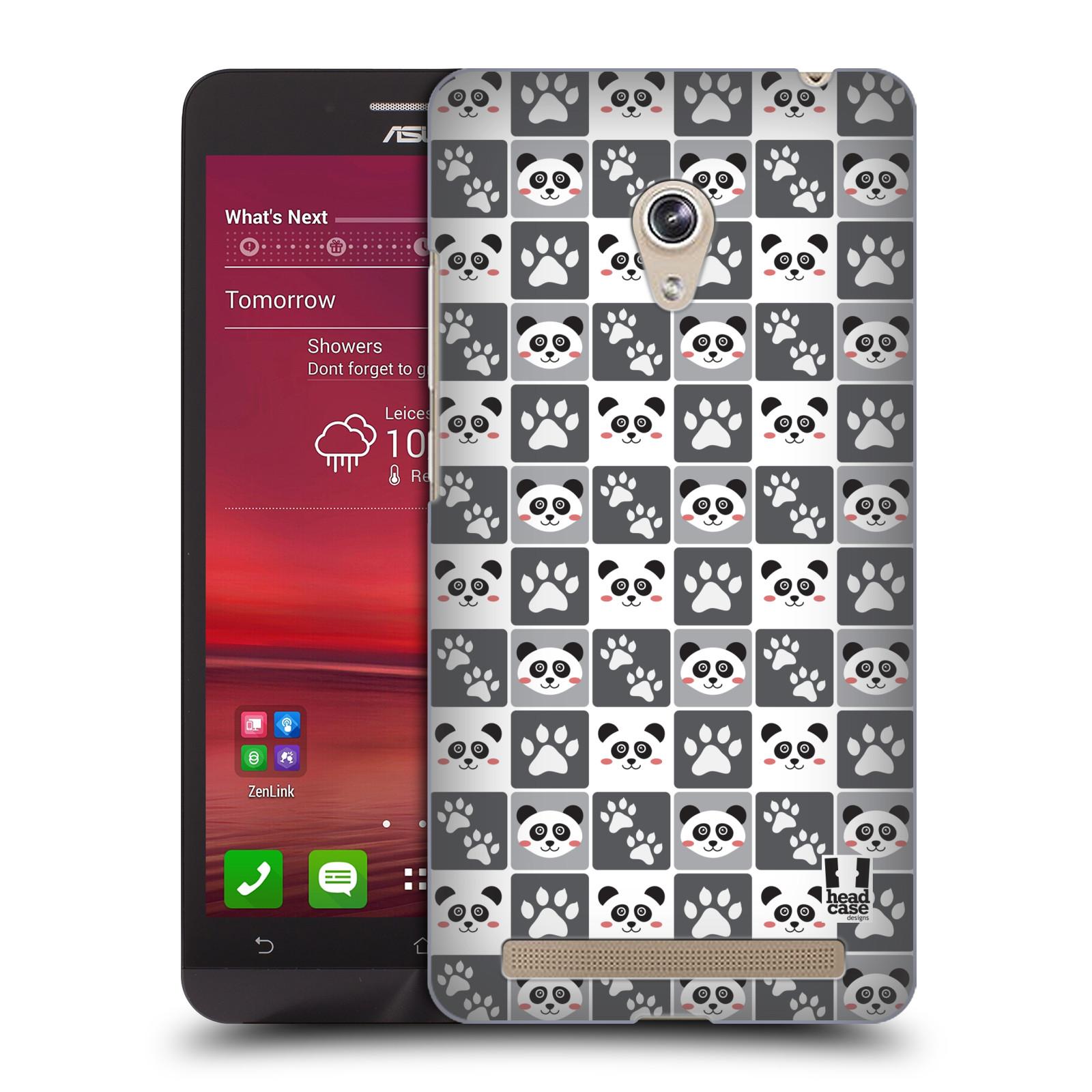 HEAD CASE plastový obal na mobil Asus Zenfone 6 vzor Zvířecí razítka MEDVÍDEK PANDA