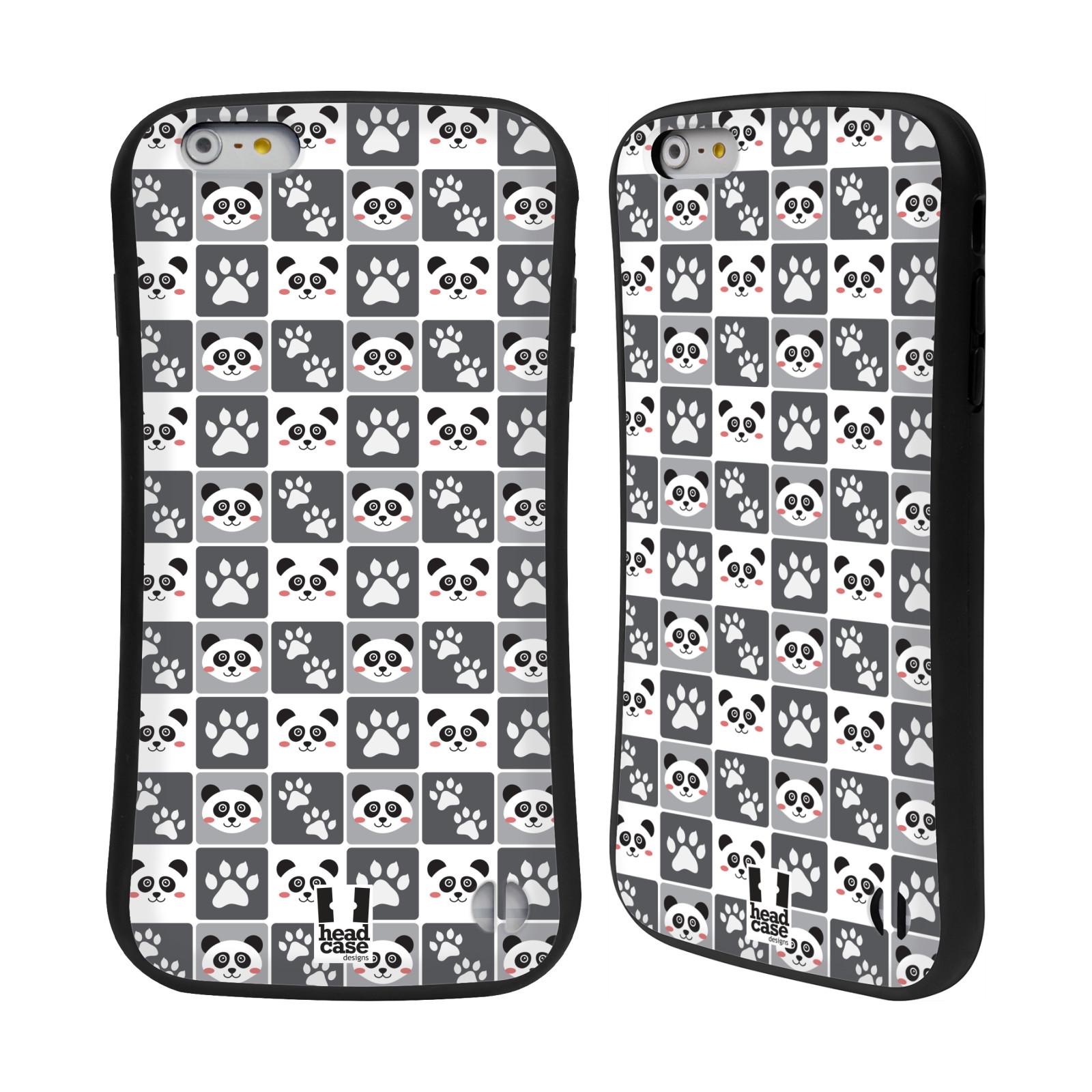 HEAD CASE silikon/plast odolný obal na mobil Apple Iphone 6 PLUS / 6S PLUS vzor Zvířecí razítka MEDVÍDEK PANDA