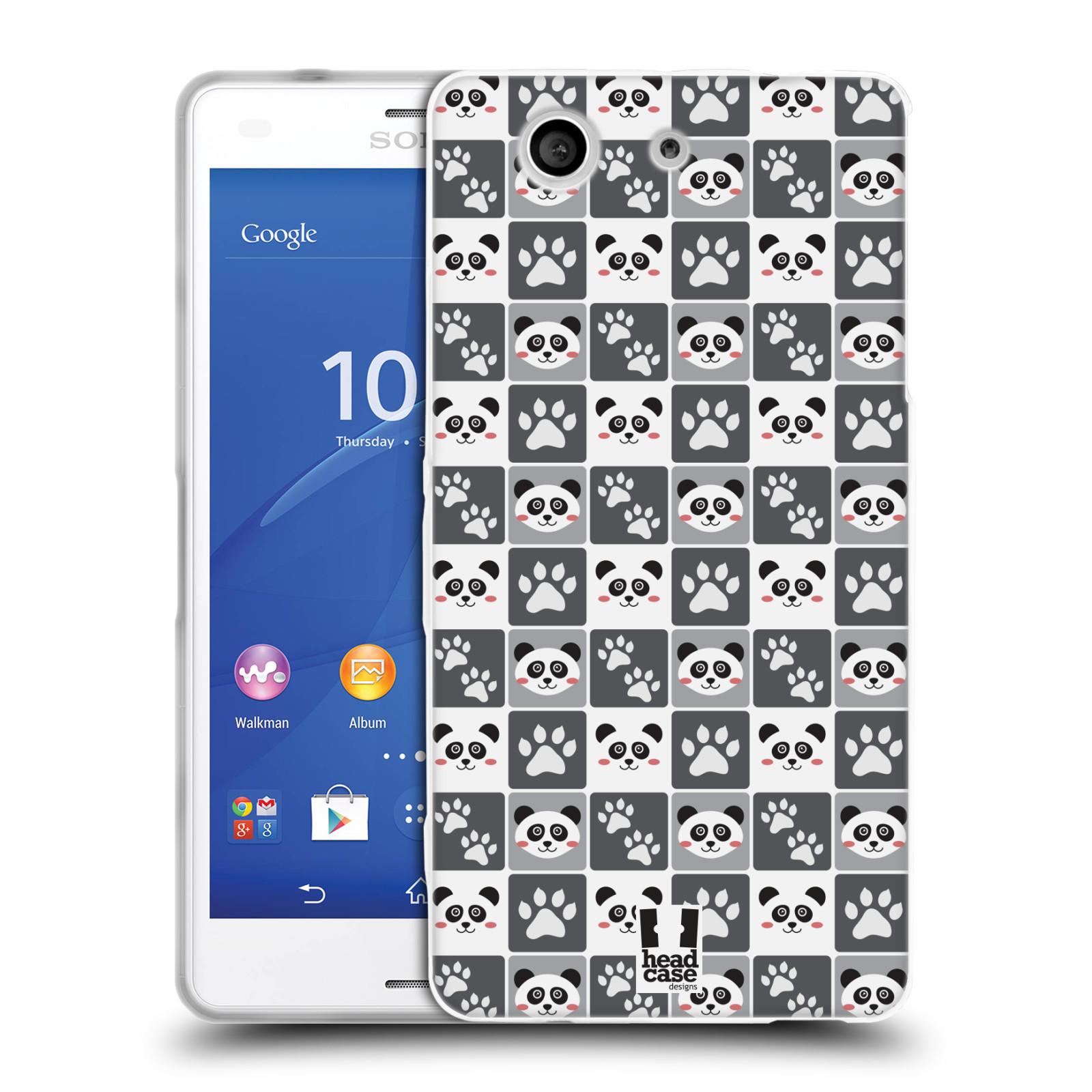 HEAD CASE silikonový obal na mobil Sony Xperia Z3 COMPACT (D5803) vzor Zvířecí razítka MEDVÍDEK PANDA