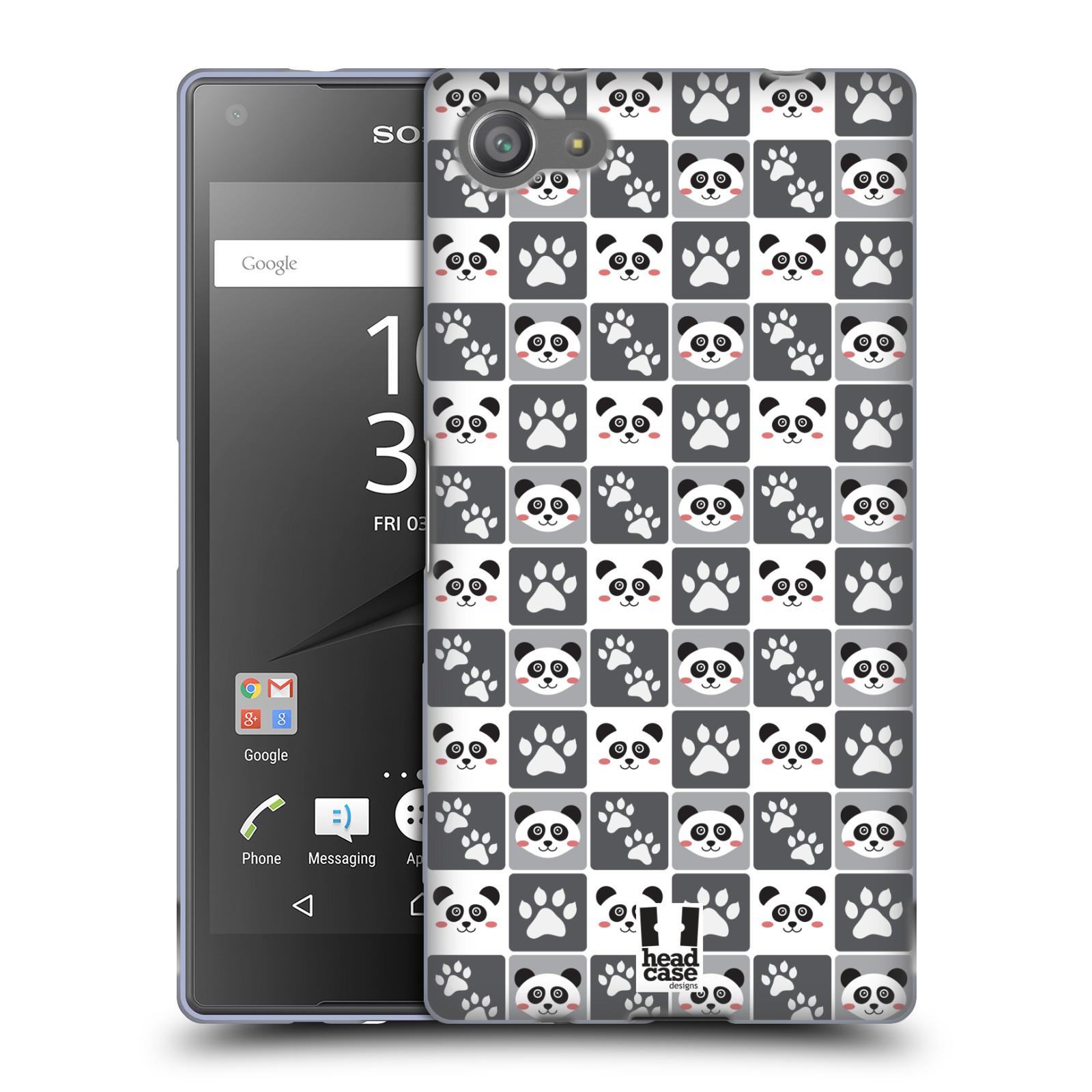 HEAD CASE silikonový obal na mobil Sony Xperia Z5 COMPACT vzor Zvířecí razítka MEDVÍDEK PANDA