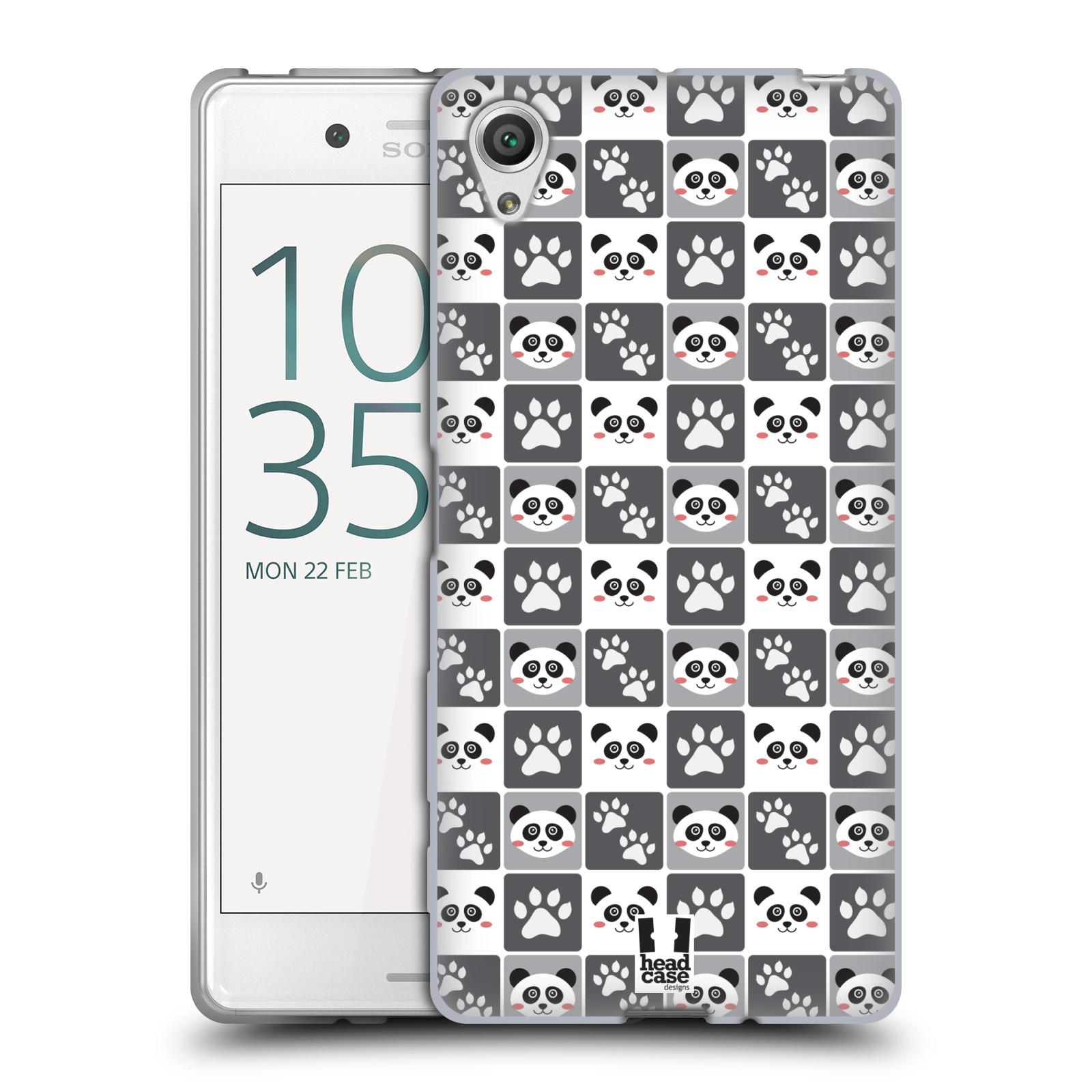 HEAD CASE silikonový obal na mobil Sony Xperia X / X DUAL vzor Zvířecí razítka MEDVÍDEK PANDA