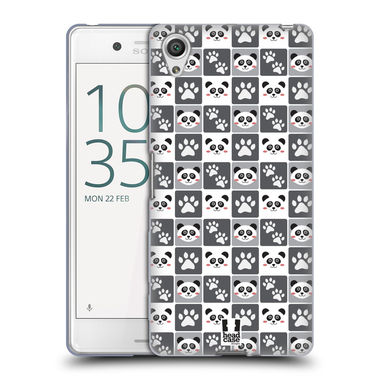 HEAD CASE silikonový obal na mobil Sony Xperia X PERFORMANCE (F8131, F8132) vzor Zvířecí razítka MEDVÍDEK PANDA