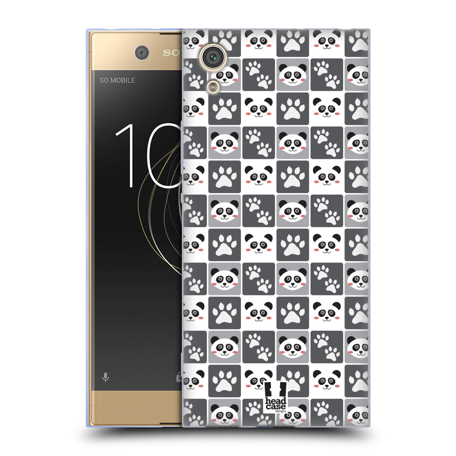 HEAD CASE silikonový obal na mobil Sony Xperia XA1 / XA1 DUAL SIM vzor Zvířecí razítka MEDVÍDEK PANDA