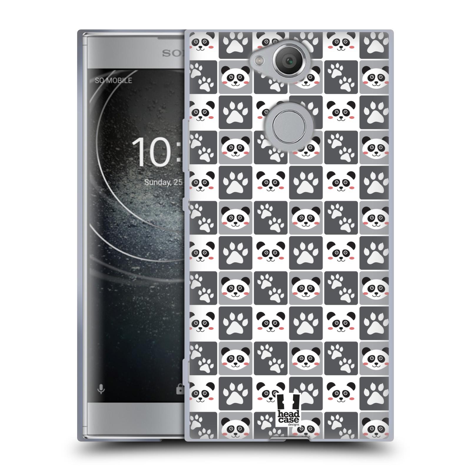 Pouzdro na mobil Sony Xperia XA2 (DUAL SIM, SINGLE SIM) vzor Zvířecí razítka MEDVÍDEK PANDA