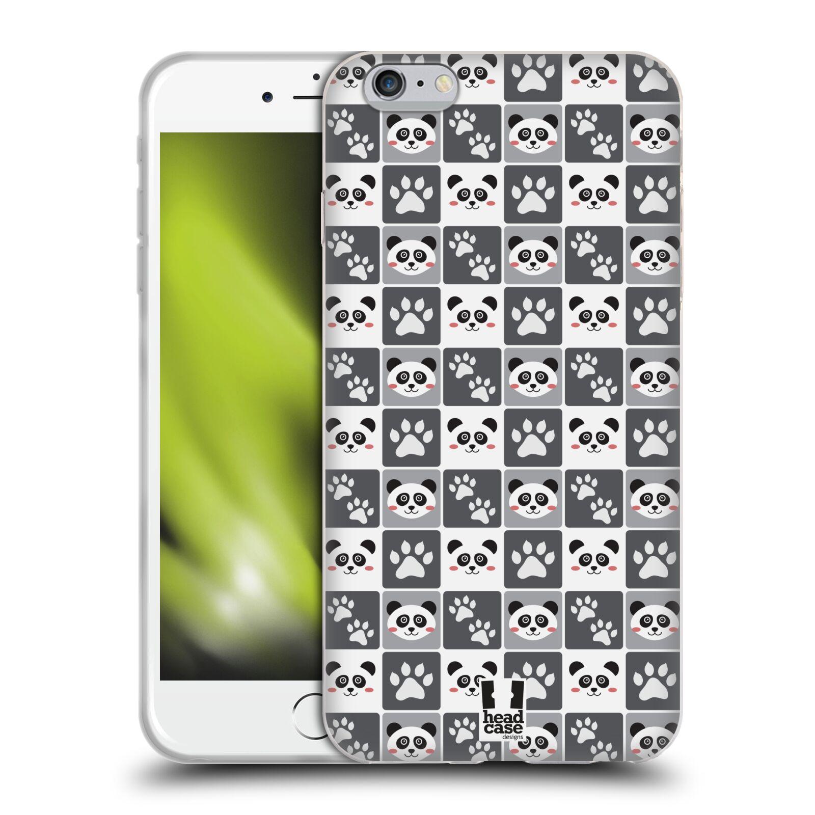 HEAD CASE silikonový obal na mobil Apple Iphone 6 PLUS/ 6S PLUS vzor Zvířecí razítka MEDVÍDEK PANDA