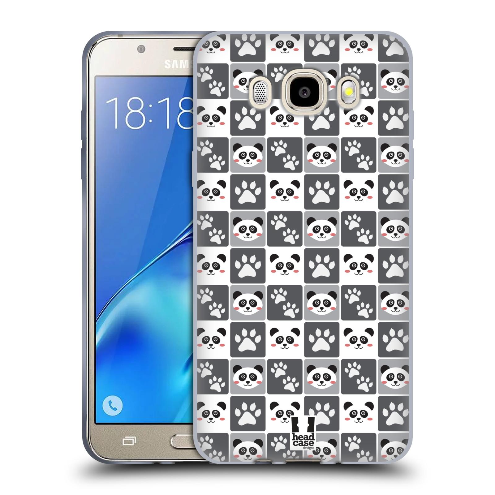 HEAD CASE silikonový obal, kryt na mobil Samsung Galaxy J5 2016, J510, J510F, (J510F DUAL SIM) vzor Zvířecí razítka MEDVÍDEK PANDA