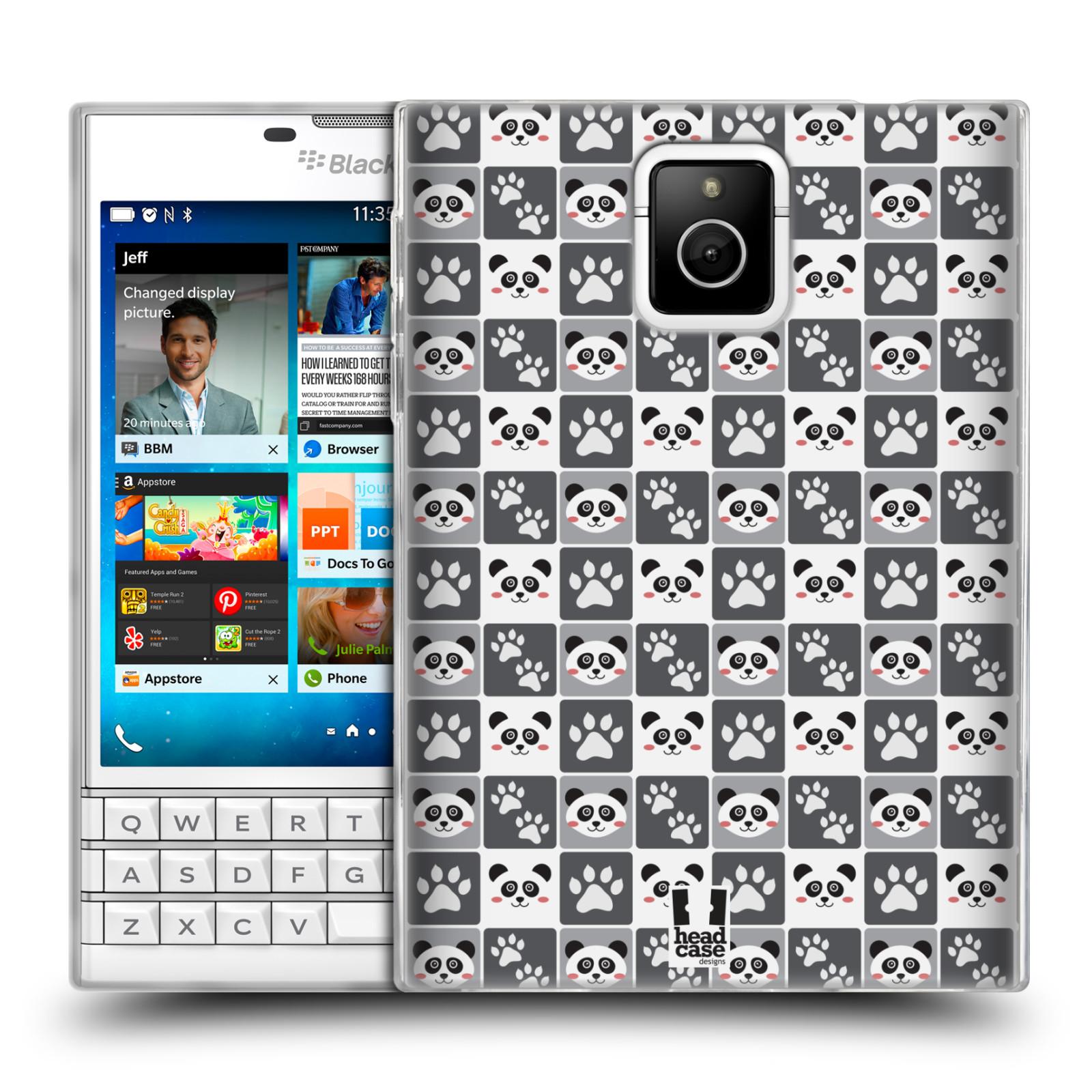 HEAD CASE silikonový obal na mobil Blackberry PASSPORT vzor Zvířecí razítka MEDVÍDEK PANDA
