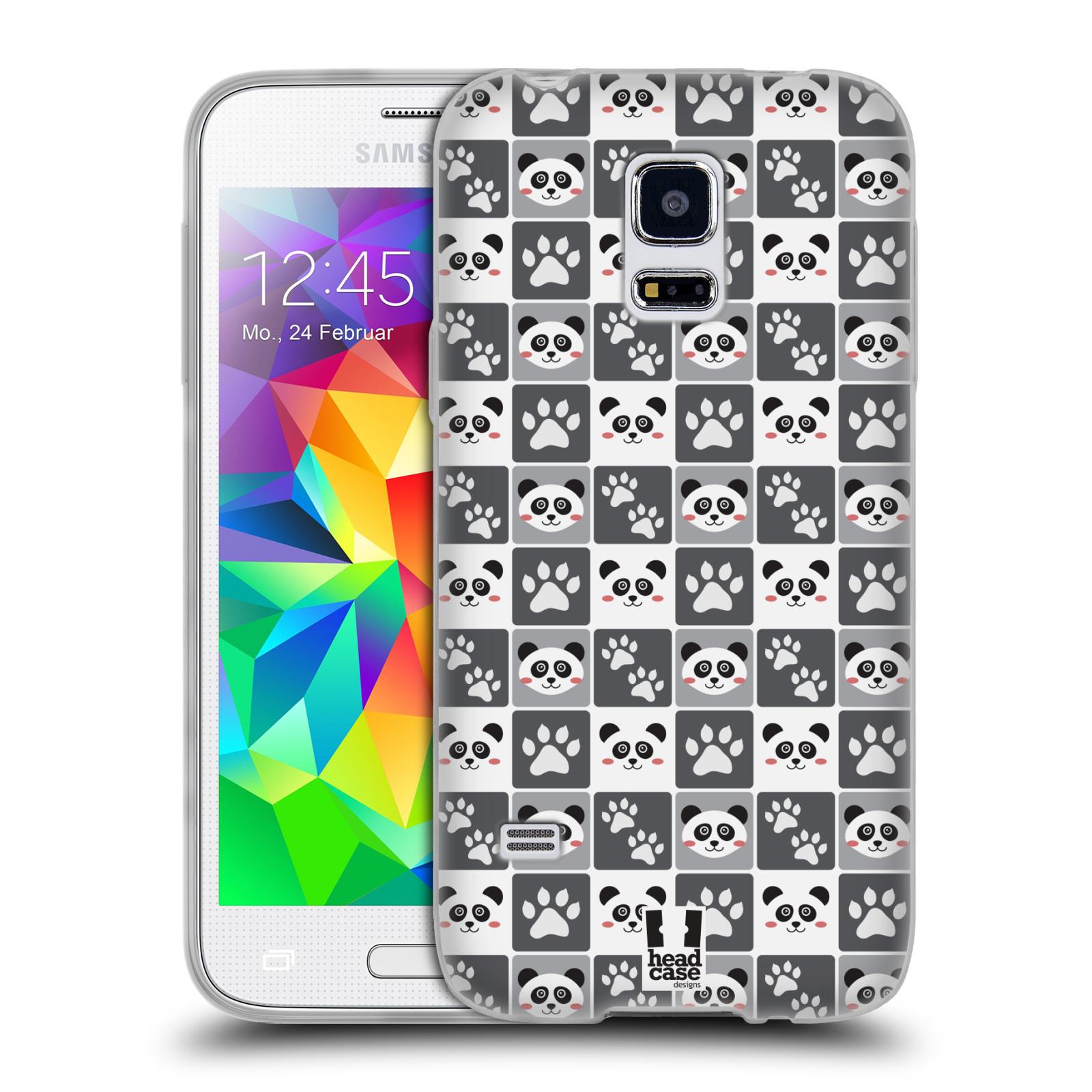 HEAD CASE silikonový obal na mobil Samsung Galaxy S5 MINI vzor Zvířecí razítka MEDVÍDEK PANDA