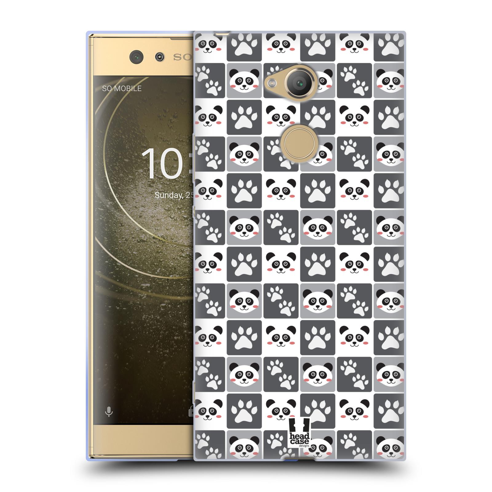 Pouzdro na mobil Sony Xperia XA2 Ultra vzor Zvířecí razítka MEDVÍDEK PANDA