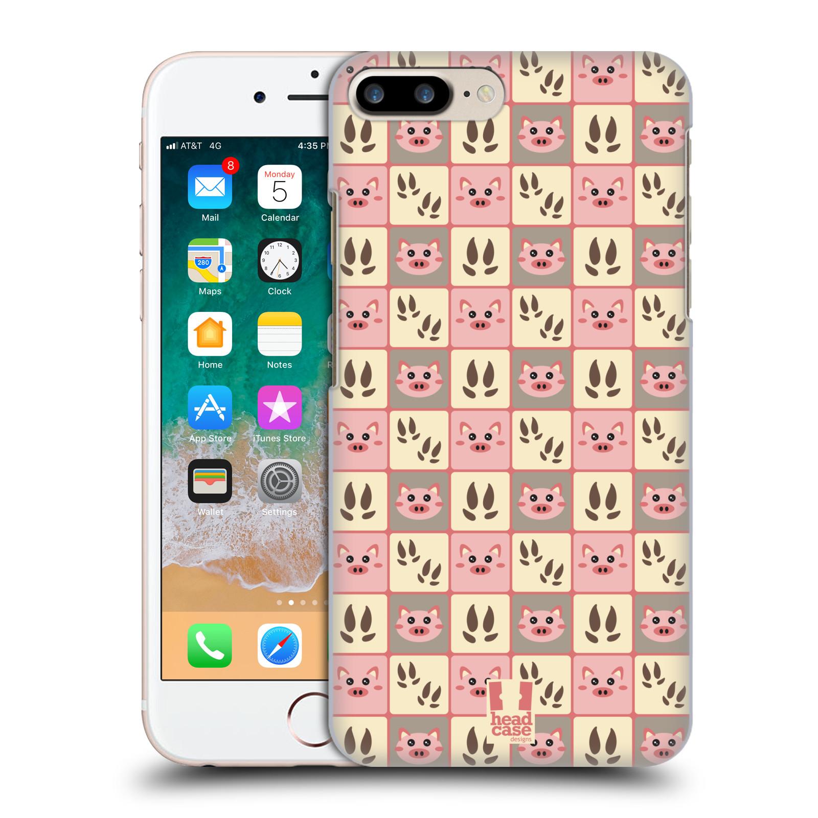 HEAD CASE plastový obal na mobil Apple Iphone 7 PLUS vzor Zvířecí razítka PRASÁTKO RŮŽOVÁ
