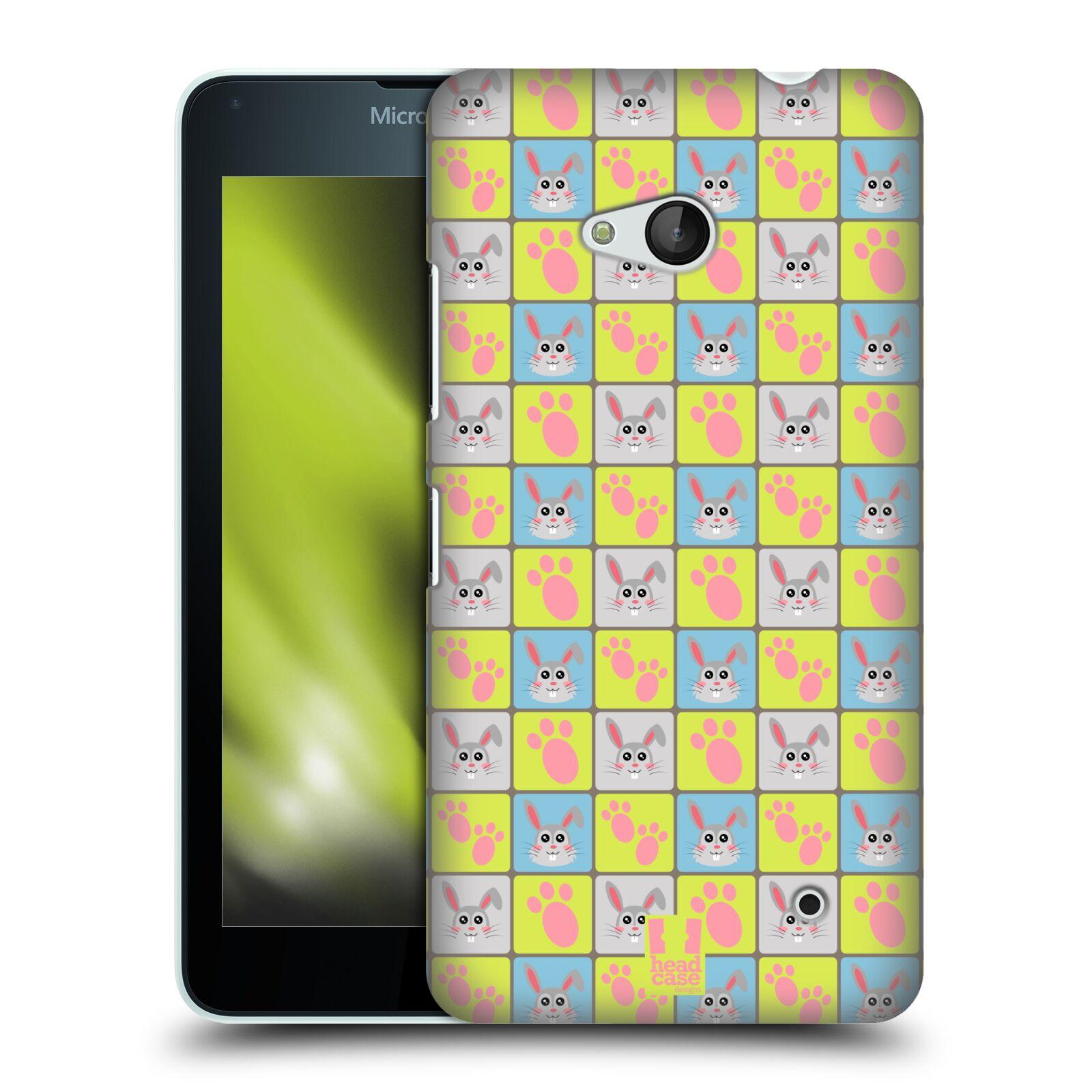 HEAD CASE plastový obal na mobil Nokia Lumia 640 vzor Zvířecí razítka ZAJÍČEK