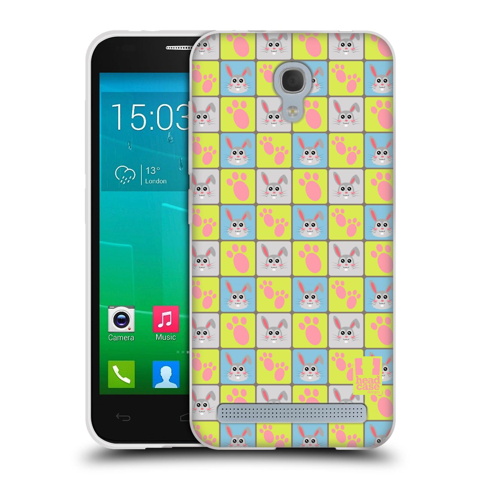 HEAD CASE silikonový obal na mobil Alcatel Idol 2 MINI S 6036Y vzor Zvířecí razítka
