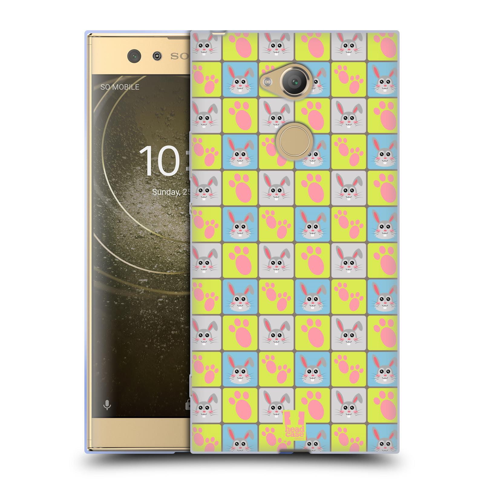 Pouzdro na mobil Sony Xperia XA2 Ultra vzor Zvířecí razítka ZAJÍČEK