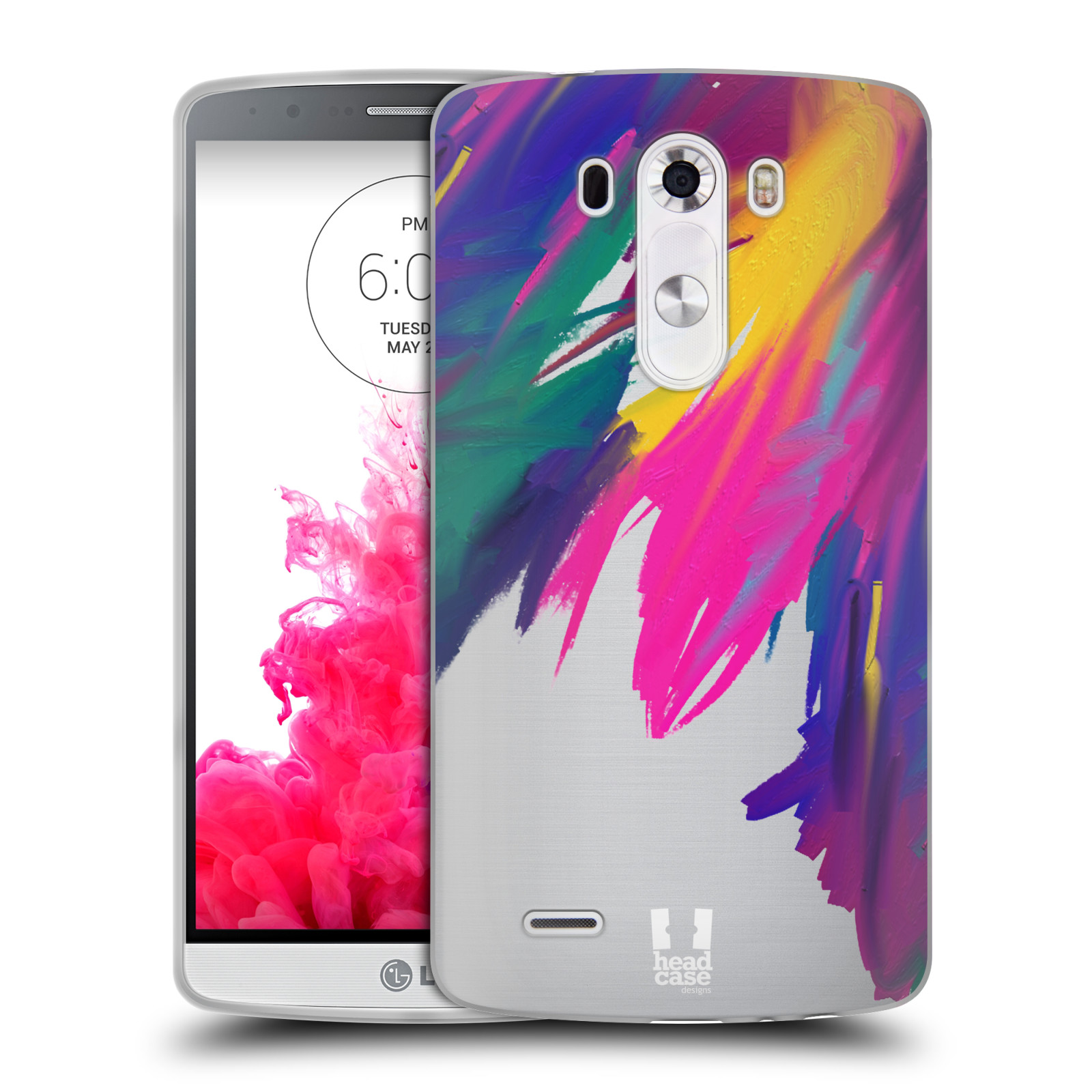 HEAD CASE DESIGNS COLOURFUL ABSTRACT SOFT GEL CASE FOR LG PHONES 1