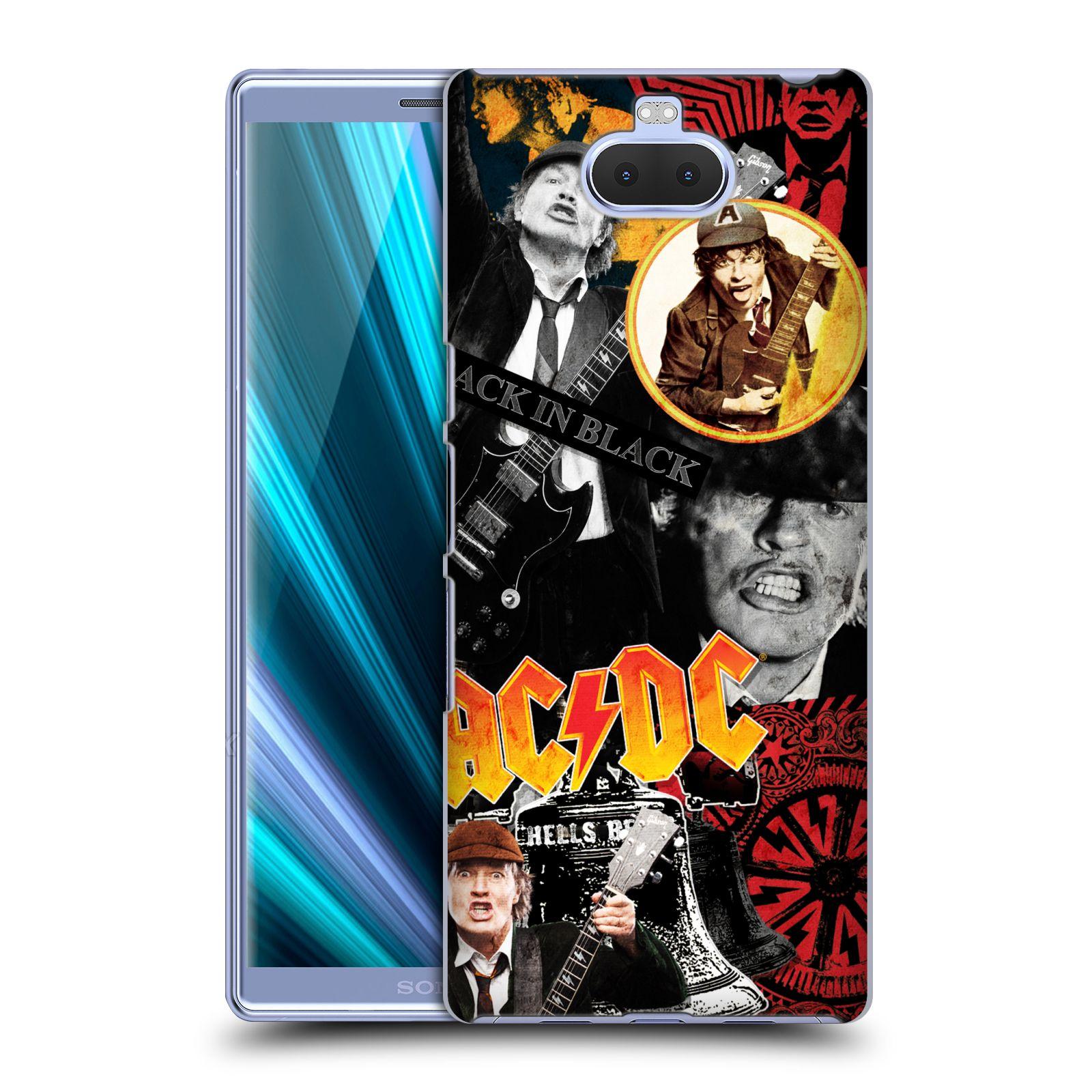 Pouzdro na mobil Sony Xperia 10 - Head Case - rocková skupina ACDC Young Angus