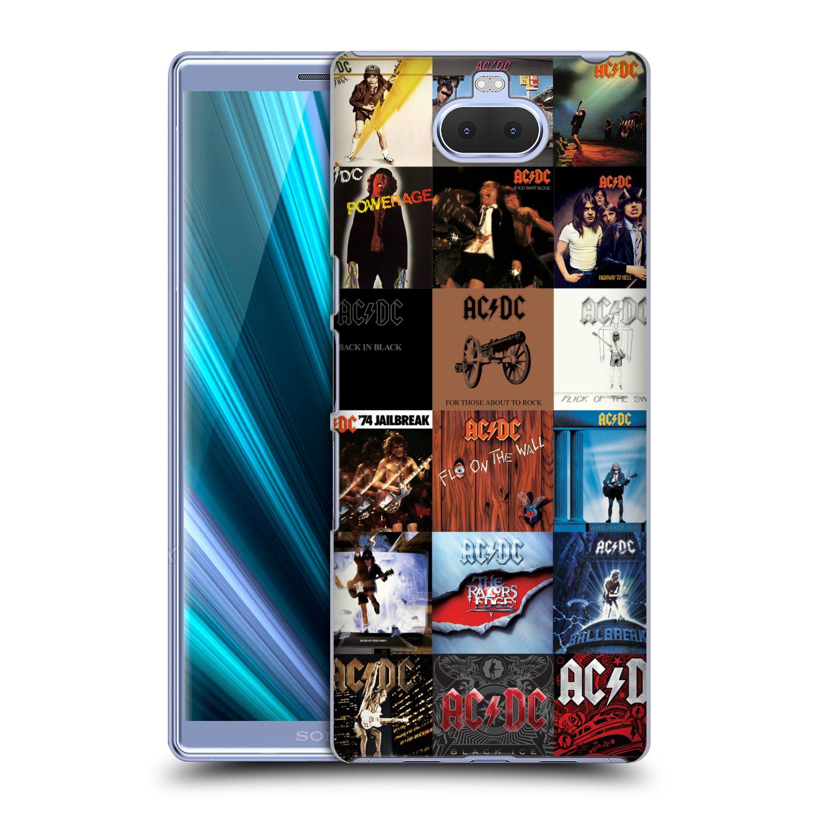 Pouzdro na mobil Sony Xperia 10 - Head Case - rocková skupina ACDC seznam alba