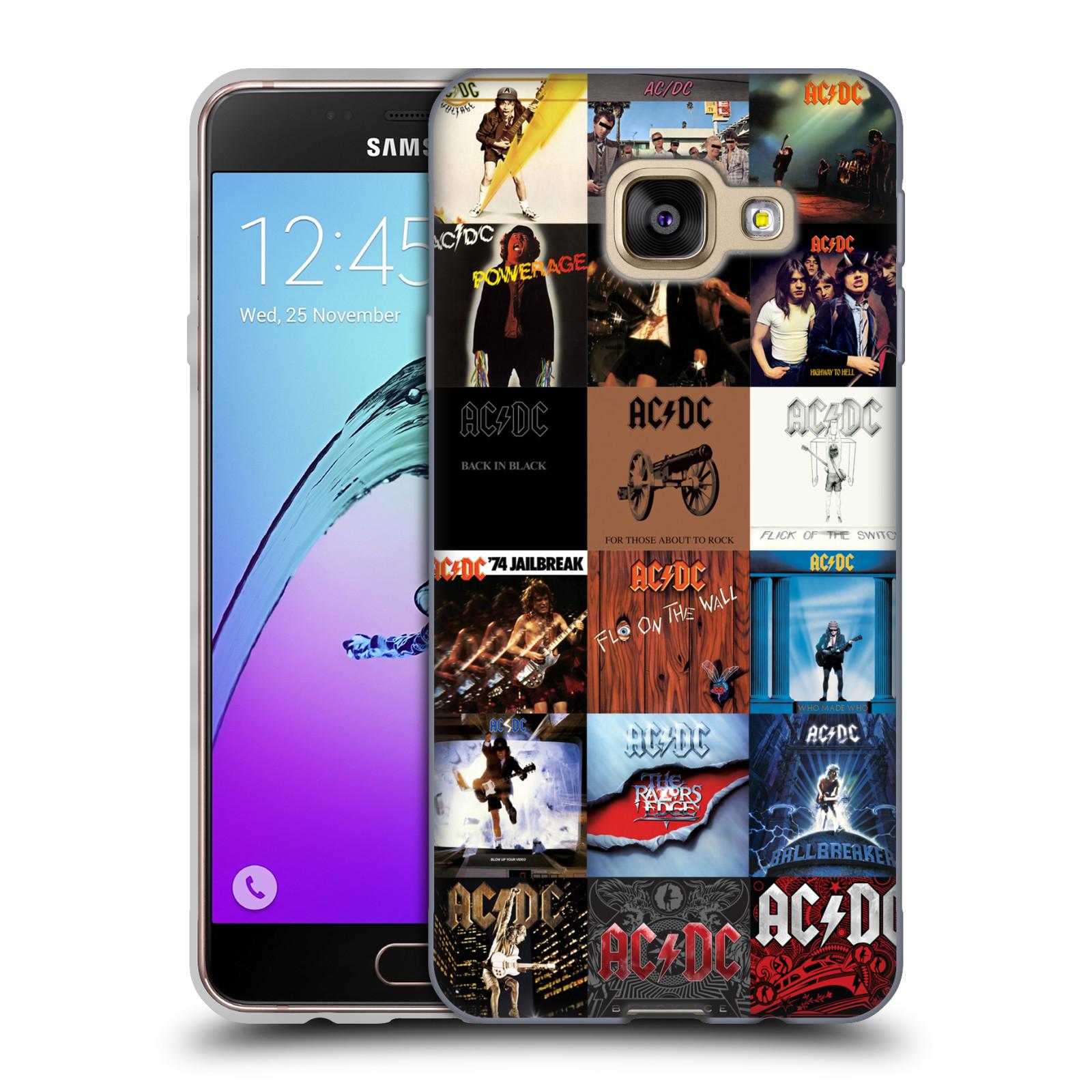 HEAD CASE silikonový obal na mobil Samsung Galaxy A3 2016 (A310) rocková skupina ACDC seznam alba