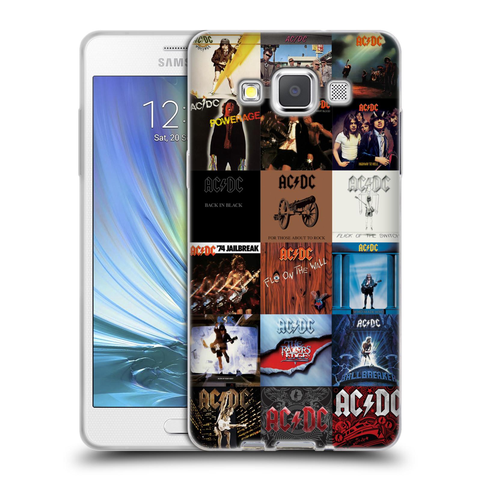 HEAD CASE silikonový obal na mobil Samsung Galaxy A5 (A500) rocková skupina ACDC seznam alba