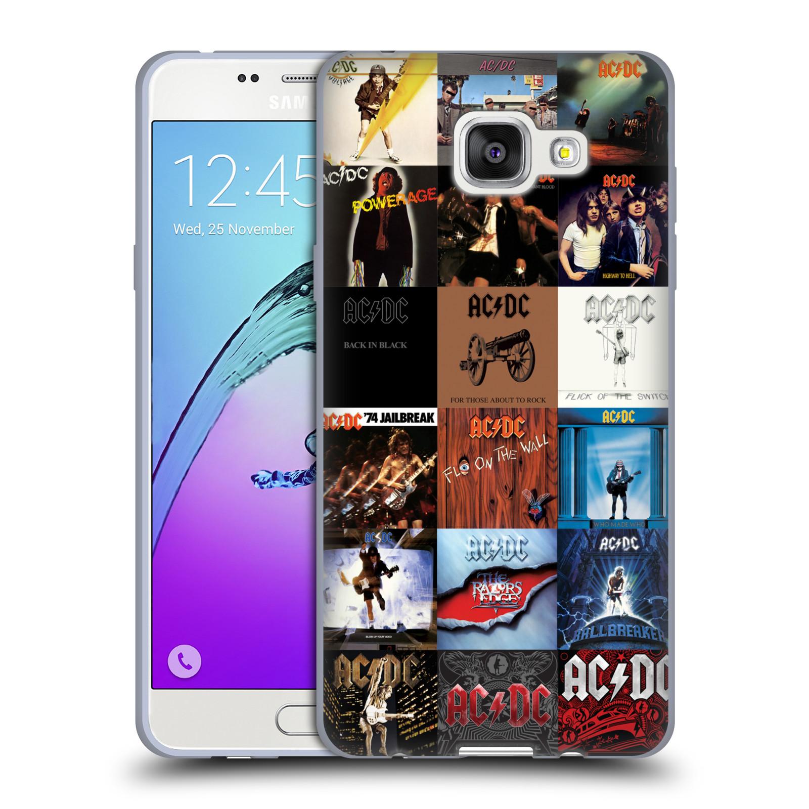 HEAD CASE silikonový obal na mobil Samsung Galaxy A5 2016 (A510) rocková skupina ACDC seznam alba