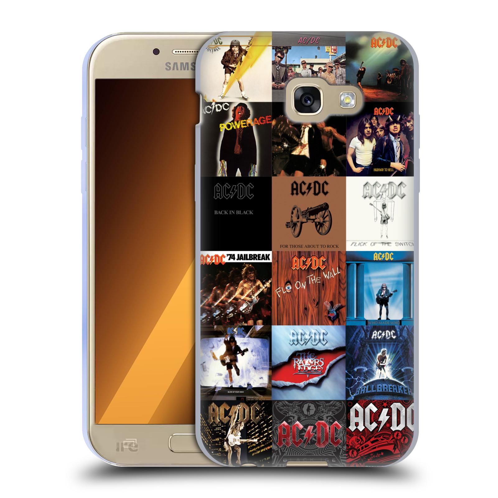HEAD CASE silikonový obal na mobil Samsung Galaxy A5 2017 (A520) rocková skupina ACDC seznam alba