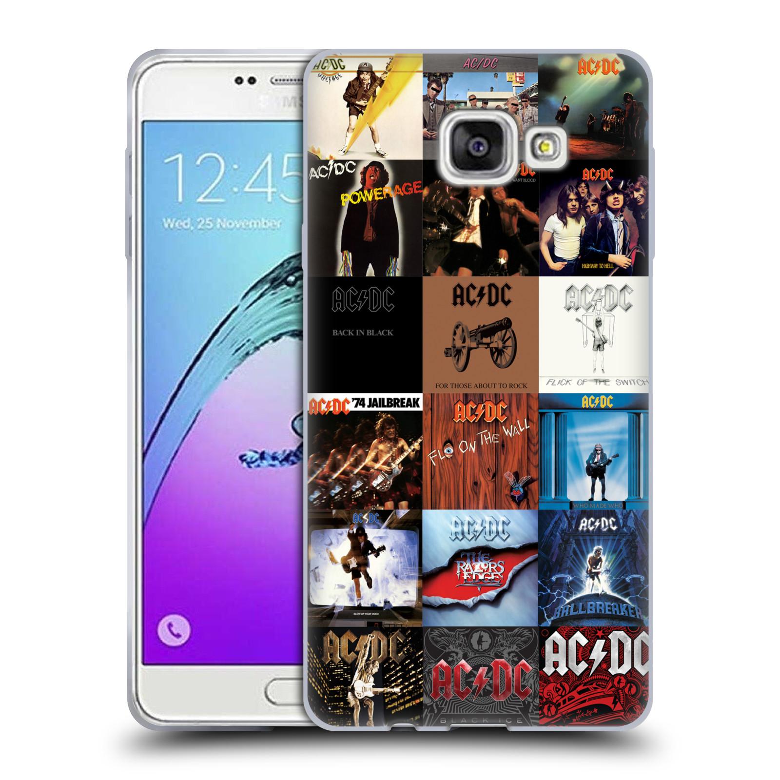 HEAD CASE silikonový obal na mobil Samsung Galaxy A7 2017 (A720) rocková skupina ACDC seznam alba