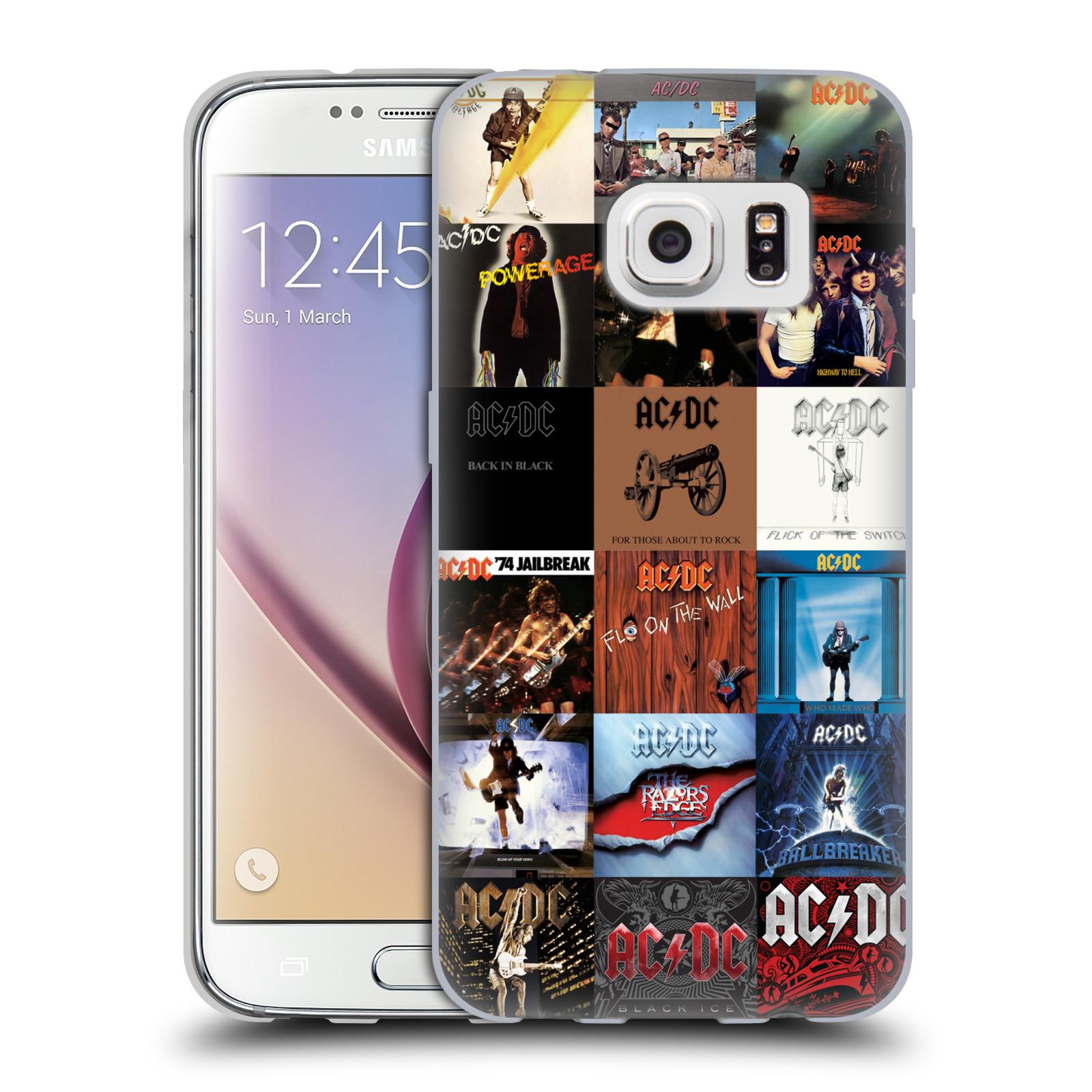HEAD CASE silikonový obal na mobil Samsung Galaxy S7 rocková skupina ACDC seznam alba