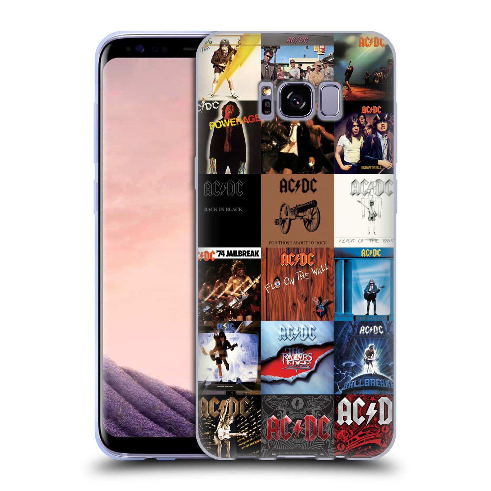 HEAD CASE silikonový obal na mobil Samsung Galaxy S8 PLUS rocková skupina ACDC seznam alba