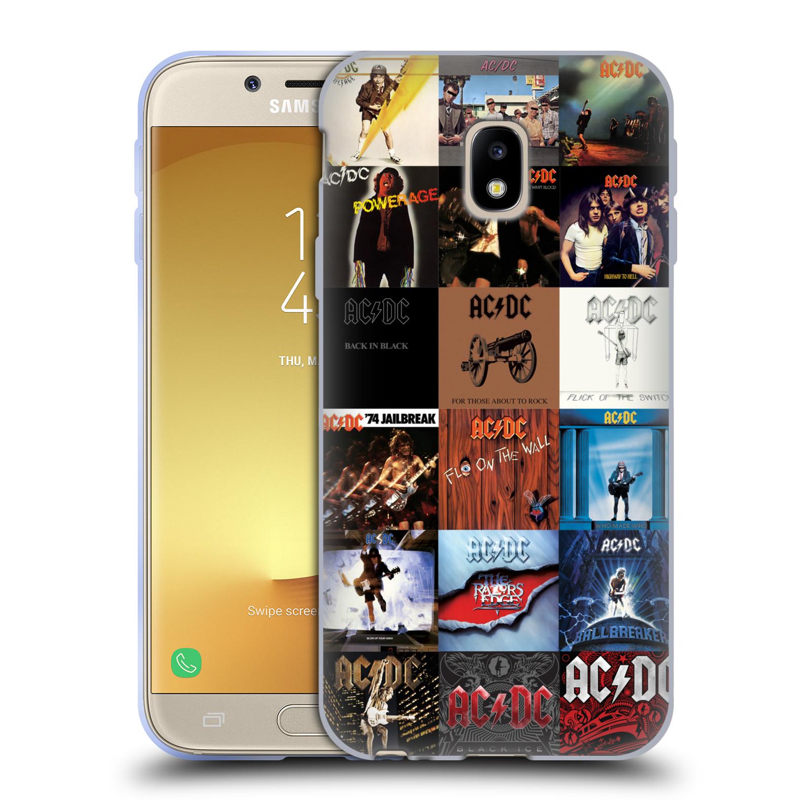 HEAD CASE silikonový obal na mobil Samsung Galaxy J3 2017 (J330, J330F) rocková skupina ACDC seznam alba