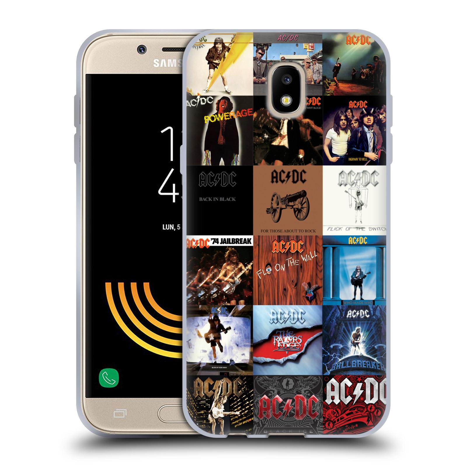 HEAD CASE silikonový obal na mobil Samsung Galaxy J5 2017 rocková skupina ACDC seznam alba