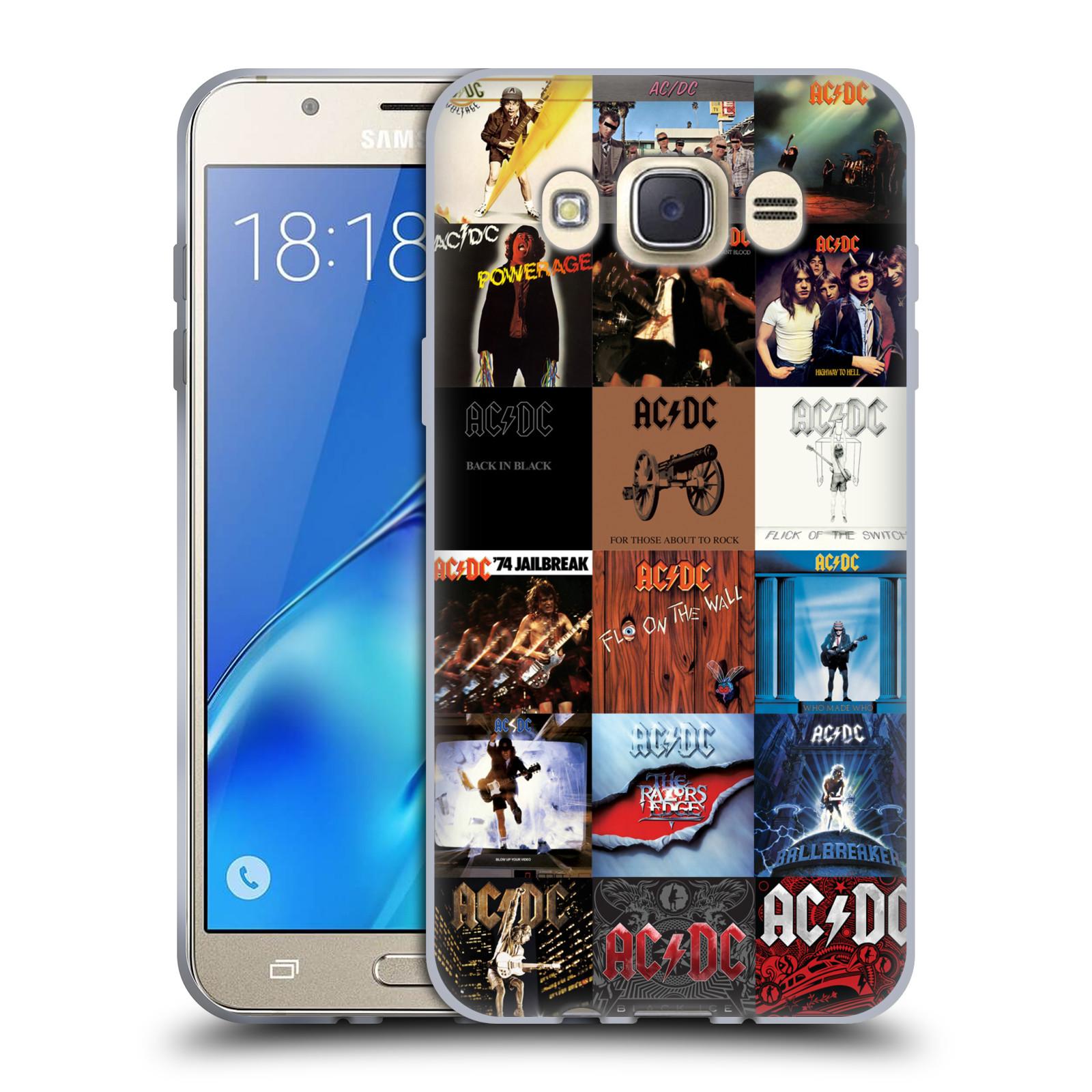 HEAD CASE silikonový obal na mobil Samsung Galaxy J7 2016 rocková skupina ACDC seznam alba