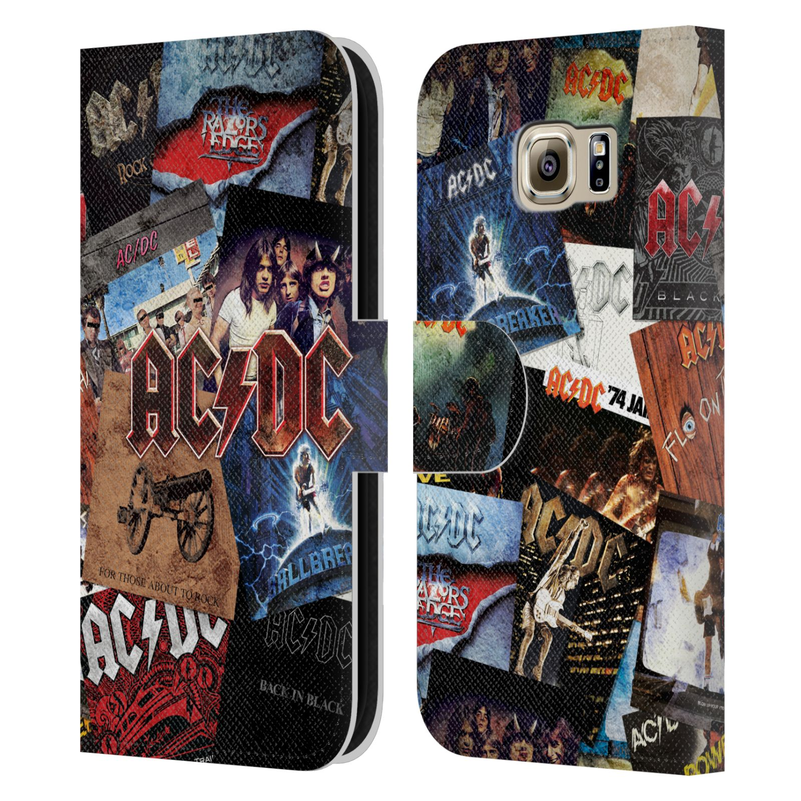 Book Cover Collage Name : Official ac dc acdc collage leather book wallet case cover