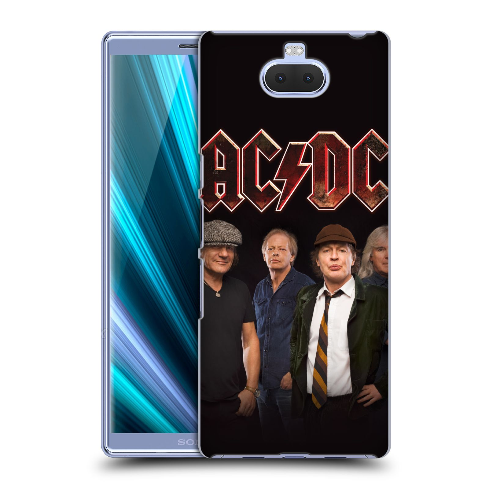 Pouzdro na mobil Sony Xperia 10 - Head Case - rocková skupina ACDC studiová fotka